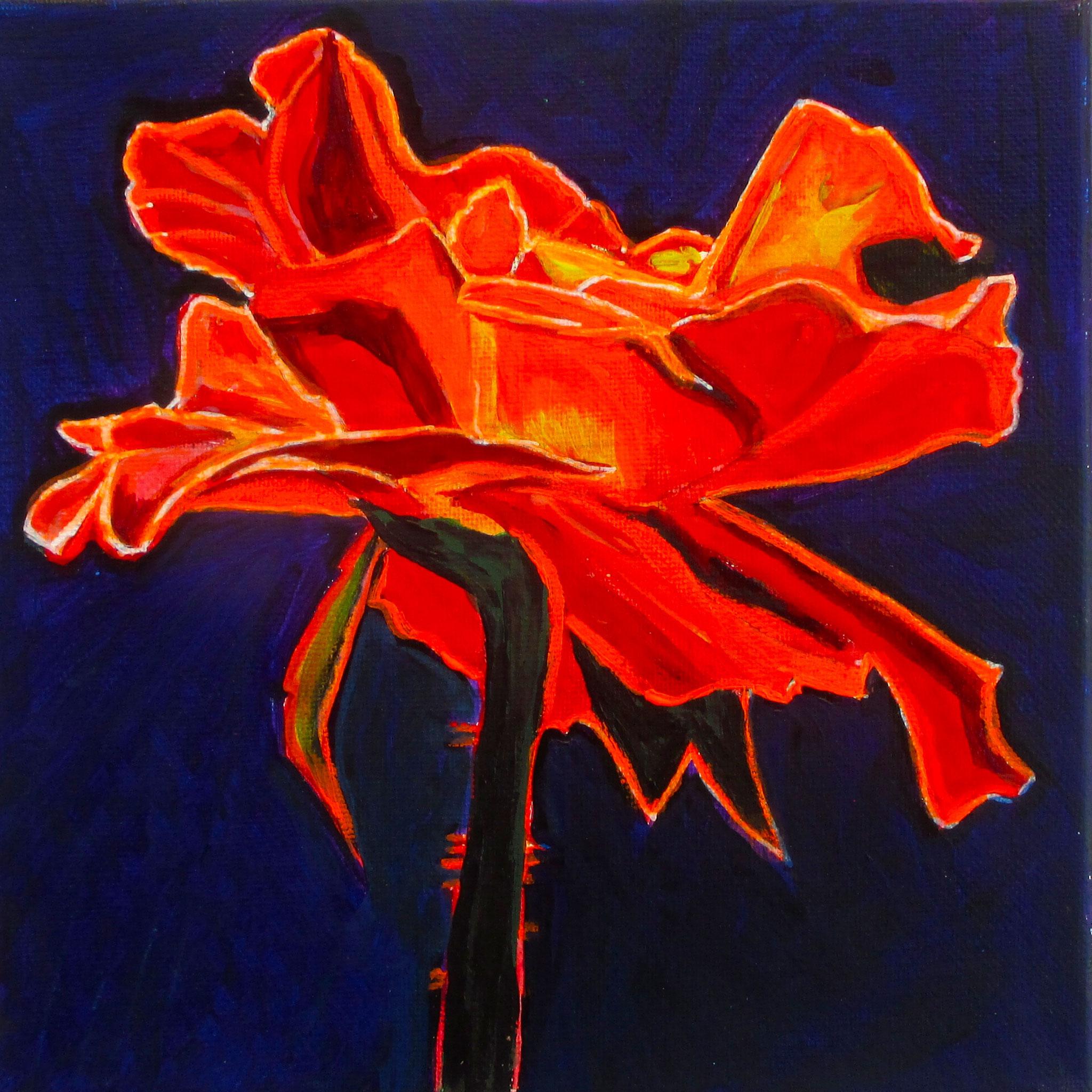 Dark Beauty, acrylic on canvas, 8 x 8