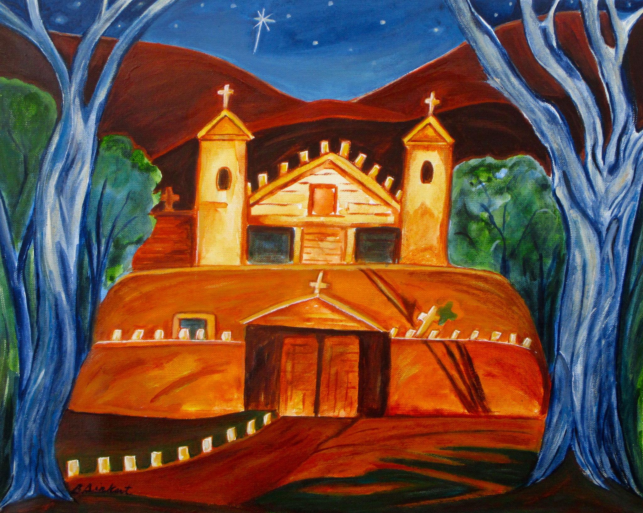 El Sanctuario, acrylic on canvas, 16 x 20 SOLD