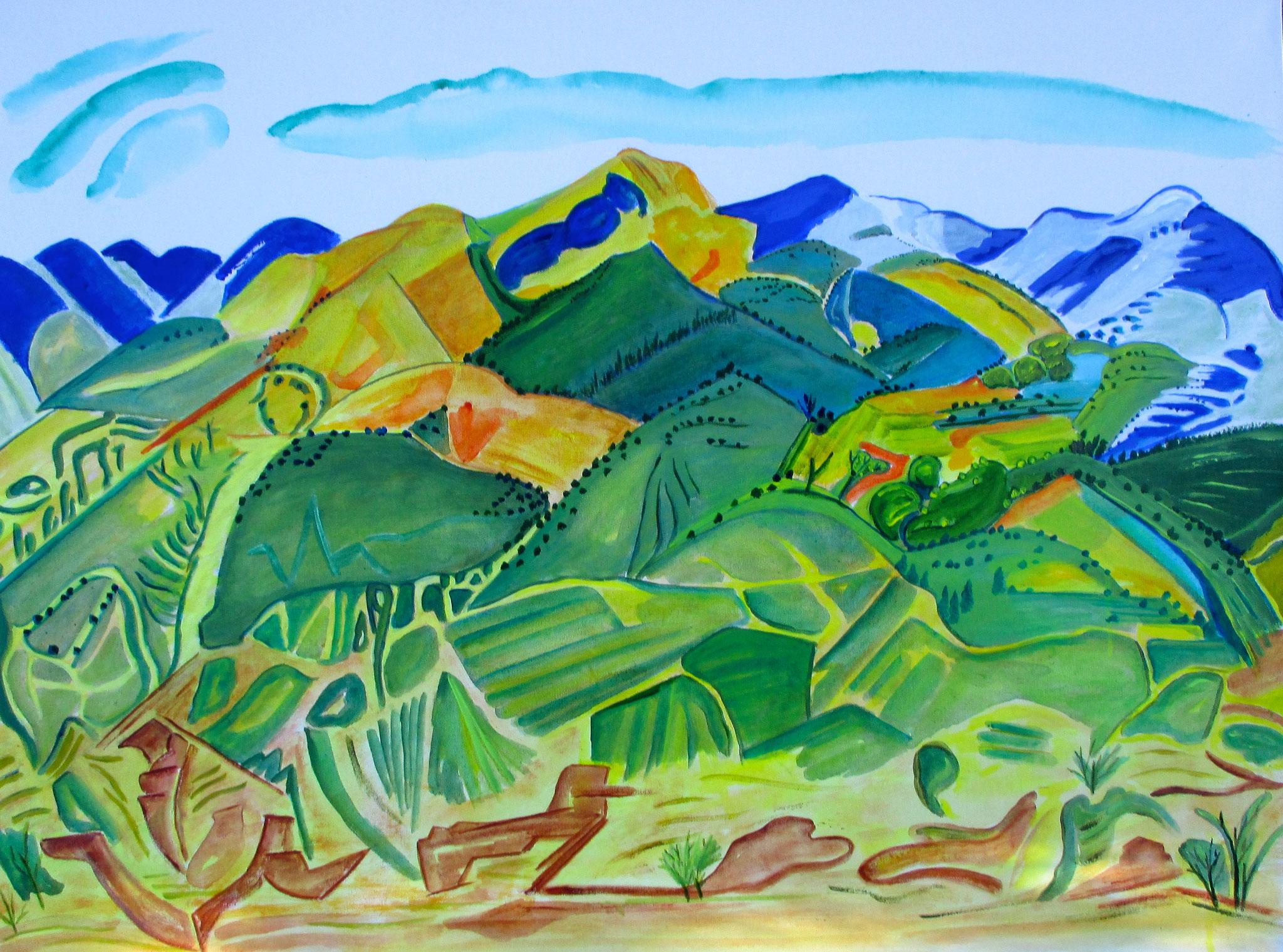 High Desert Spring, acrylic on canvas, 30 x 40, SOLD