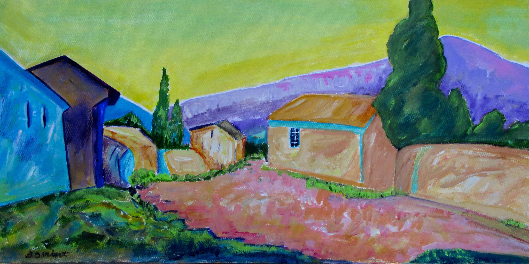 Belle Provence, oil on canvas, 24 x 12