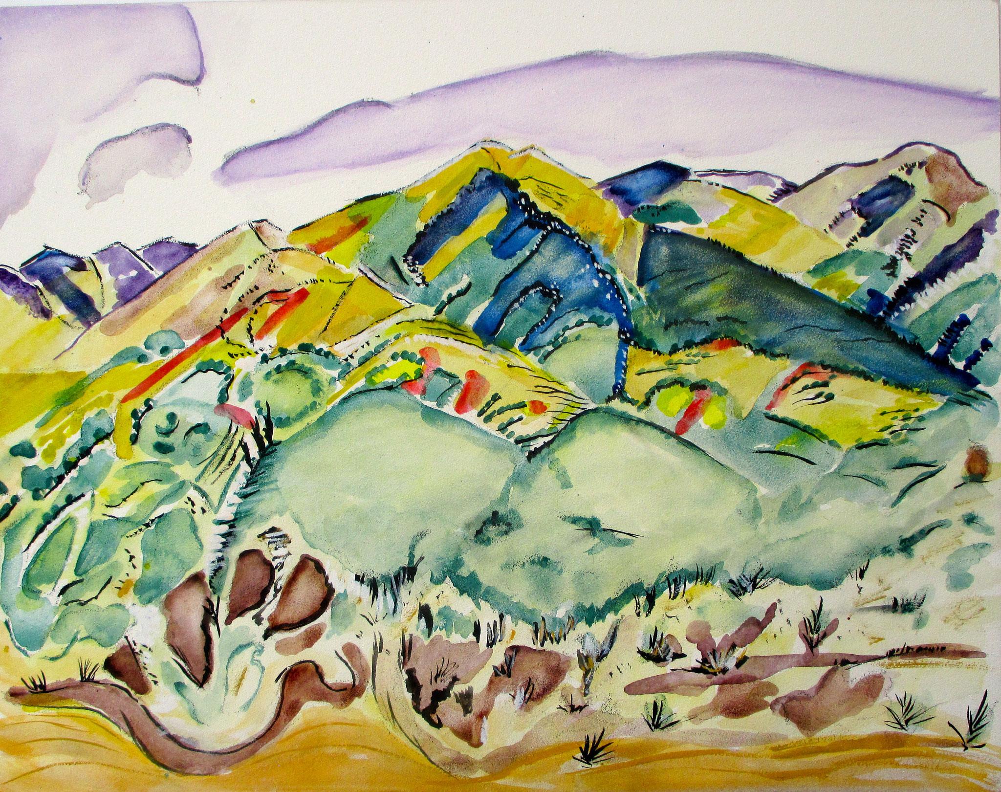Summer Solstice, watercolor on board, 14 x 11