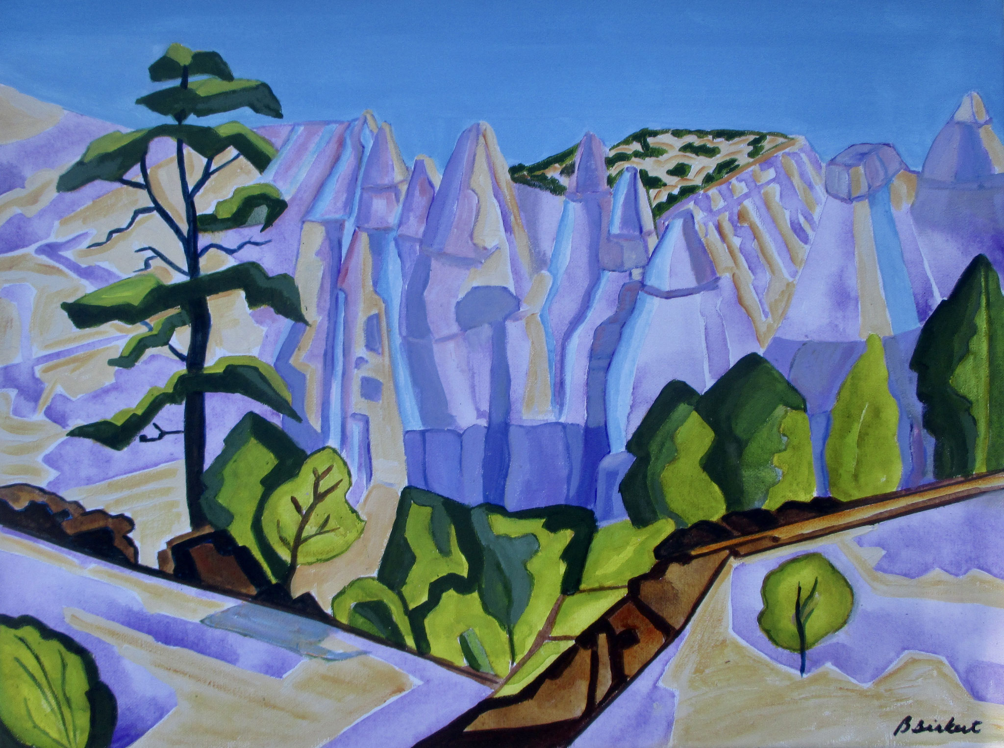 Tent Rocks, acrylic on canvas, 24 x 18