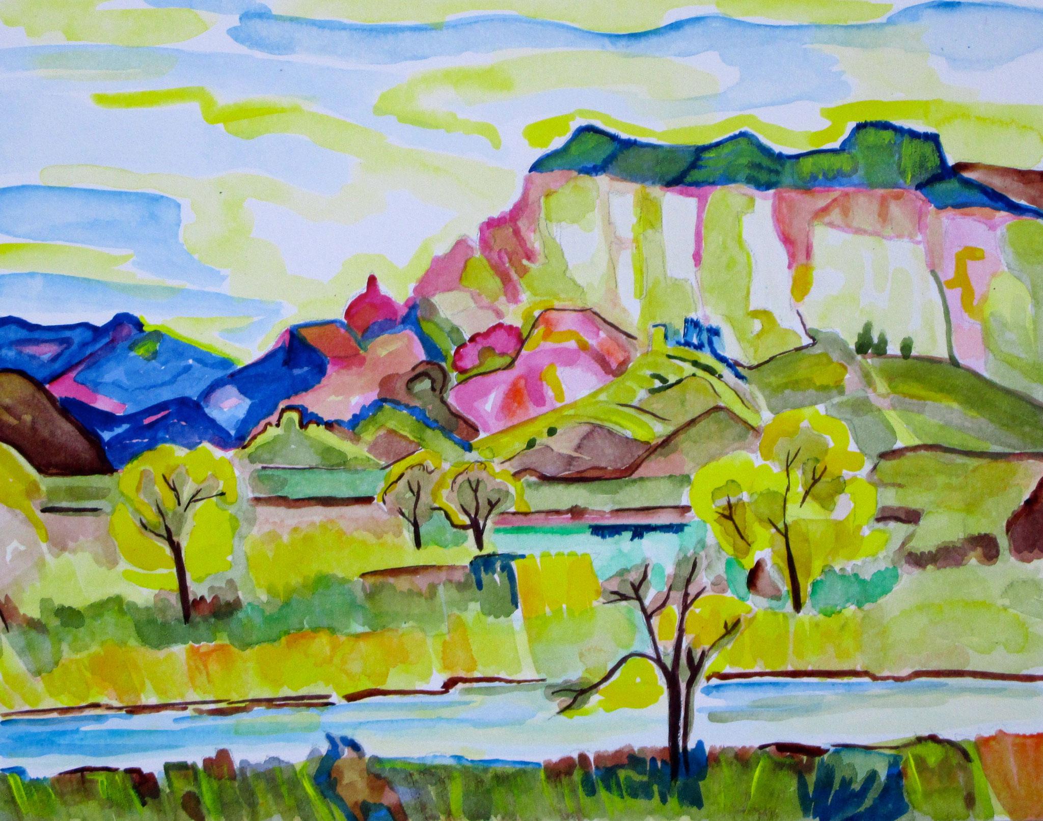 Spring Splendor, watercolor on board, 14 x 11, SOLD