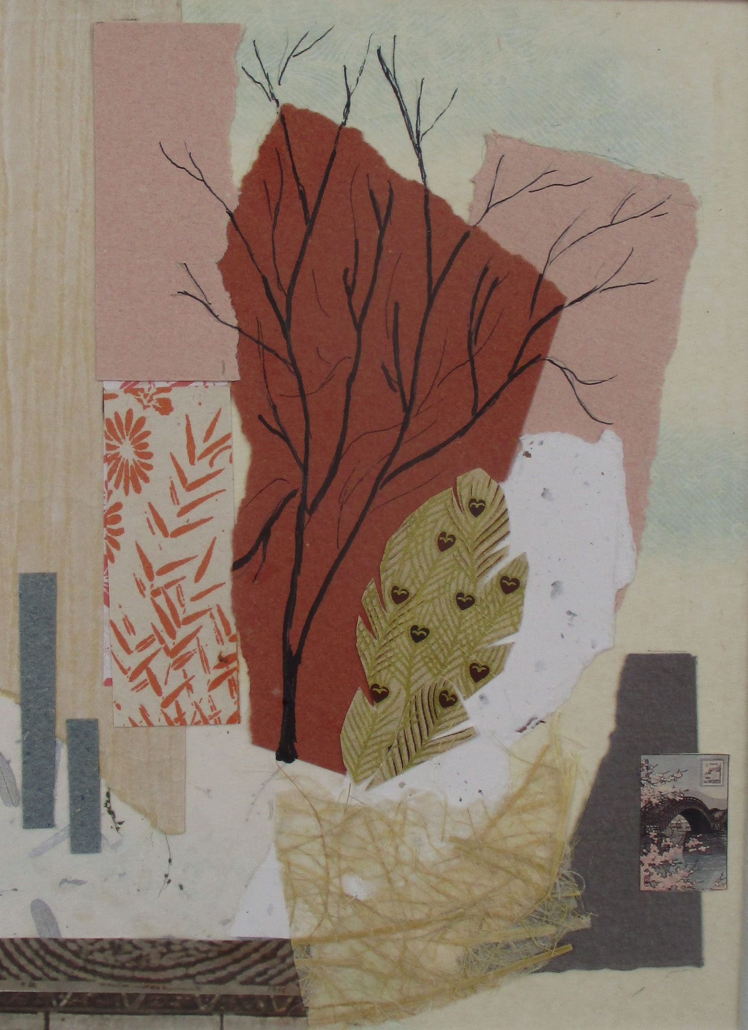 Autumn (Aki), collage, 12 x 16 matted