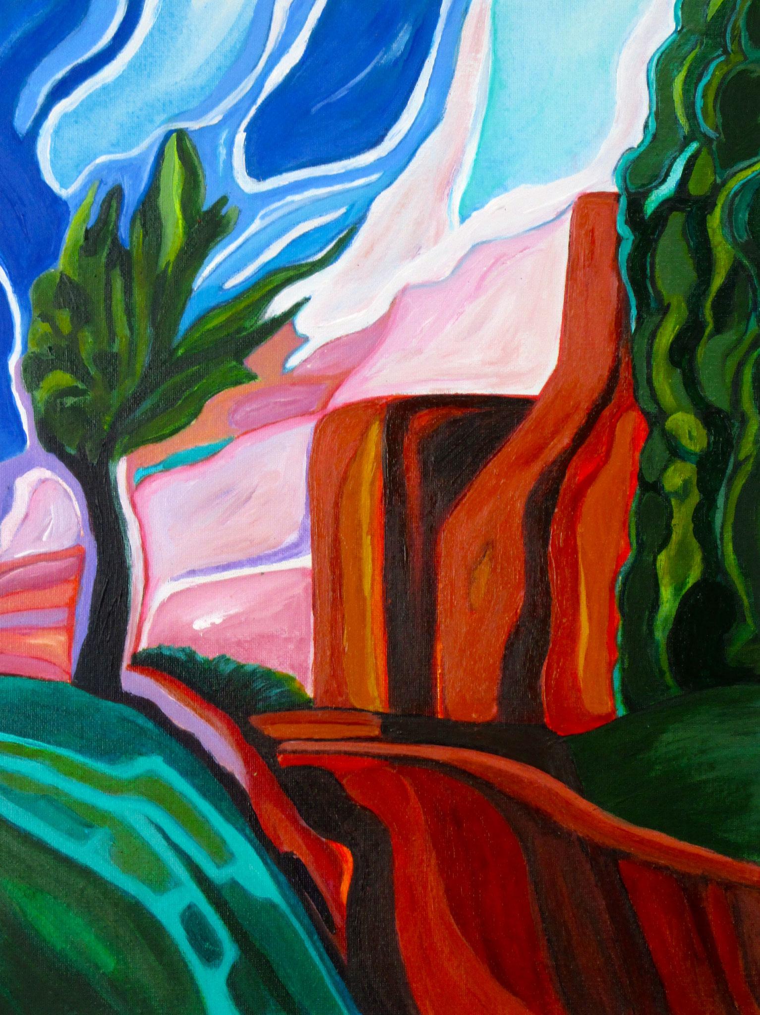 Quinocridone  Sunset, acrylic on canvas