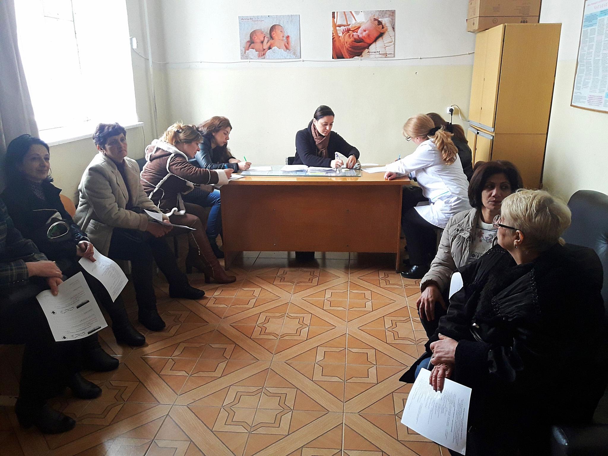 Wartende Patientinnen
