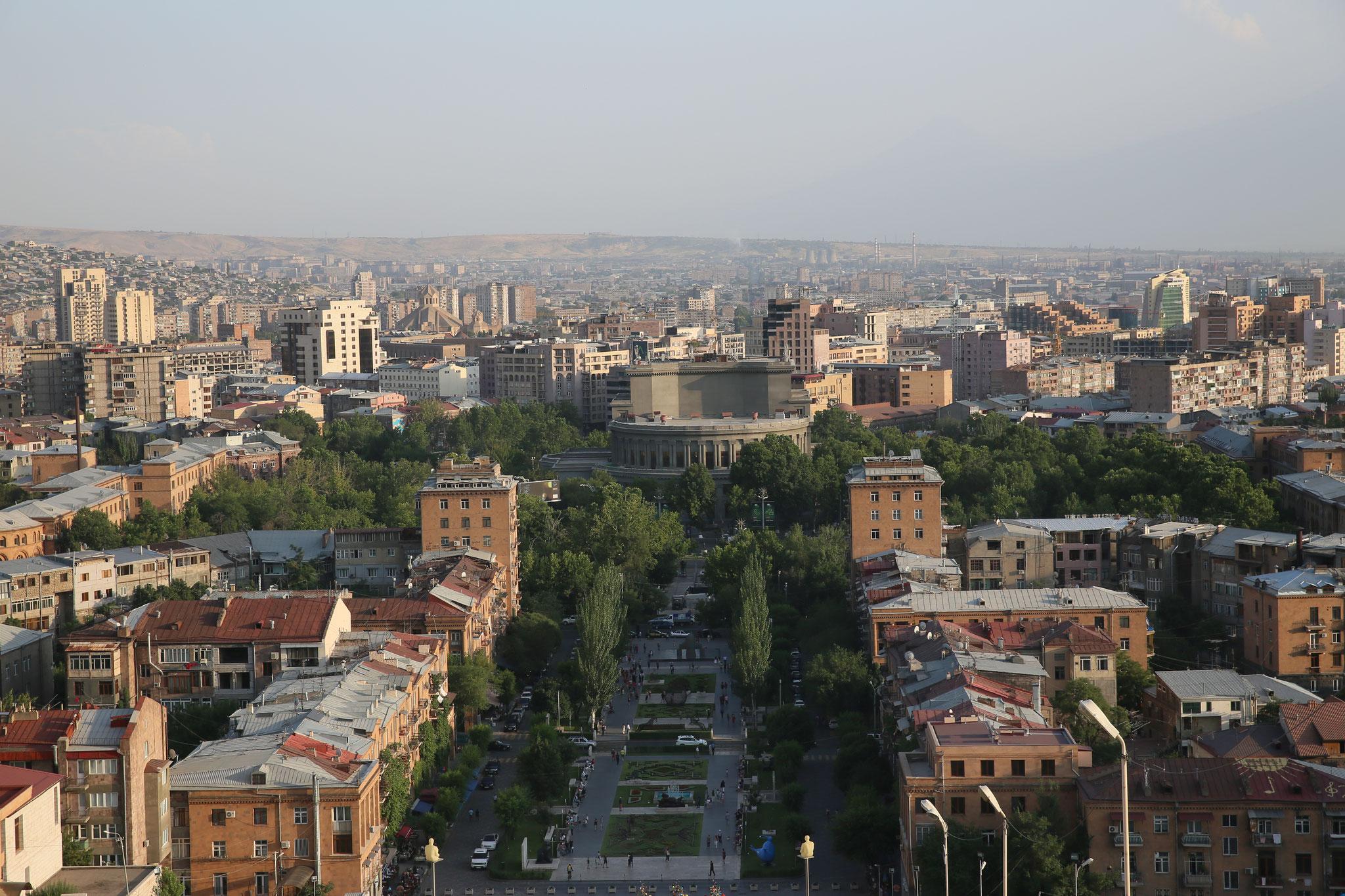 Erevan- Blick von  Kaskaden