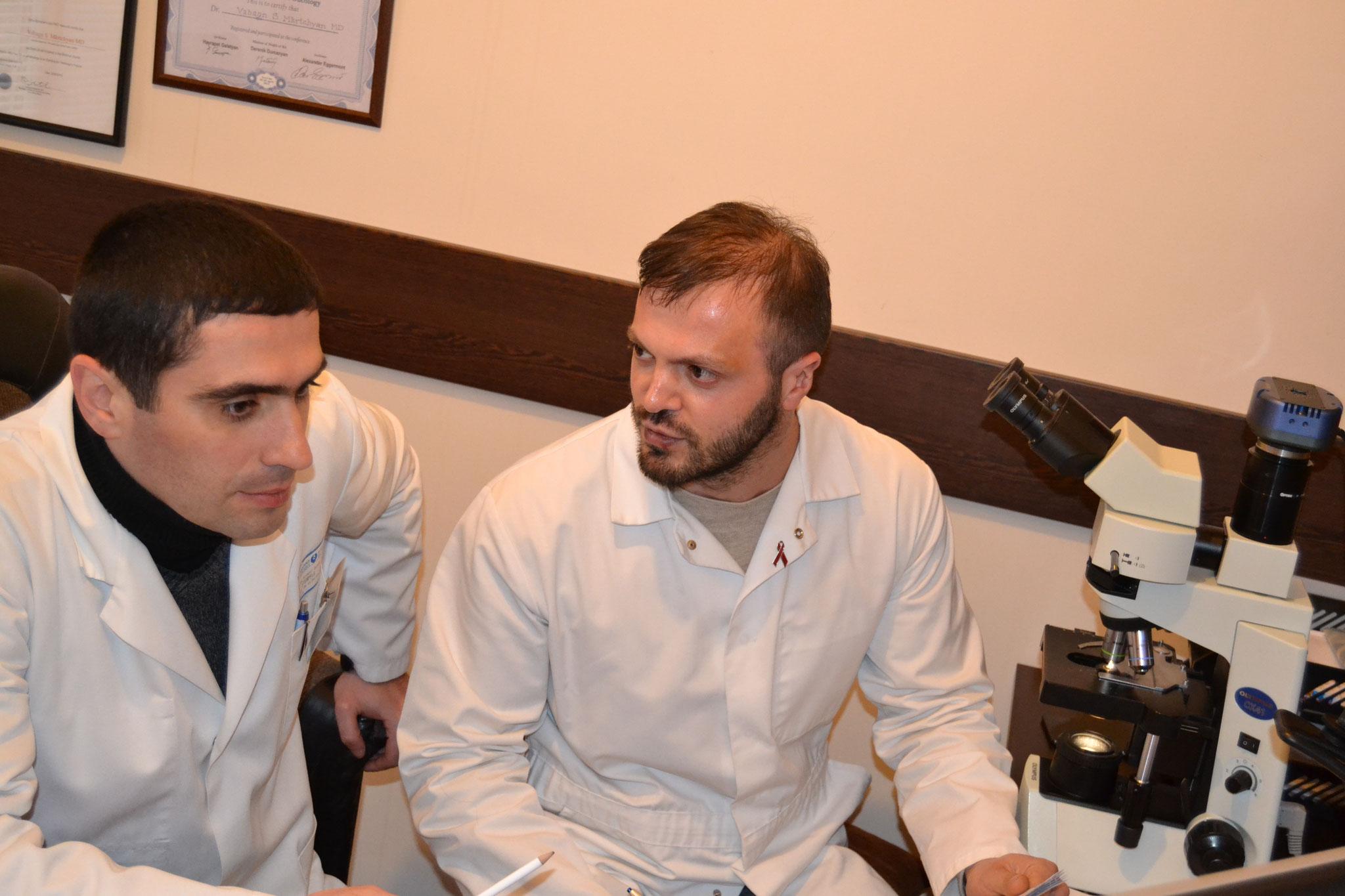 Beratung der Zytologen