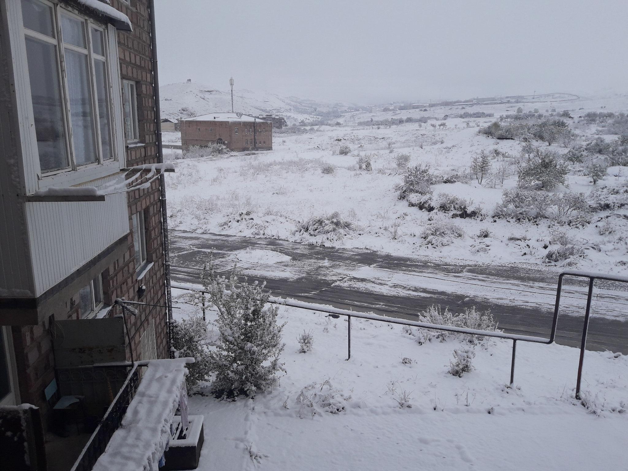Vanadzor unter dem Schnee