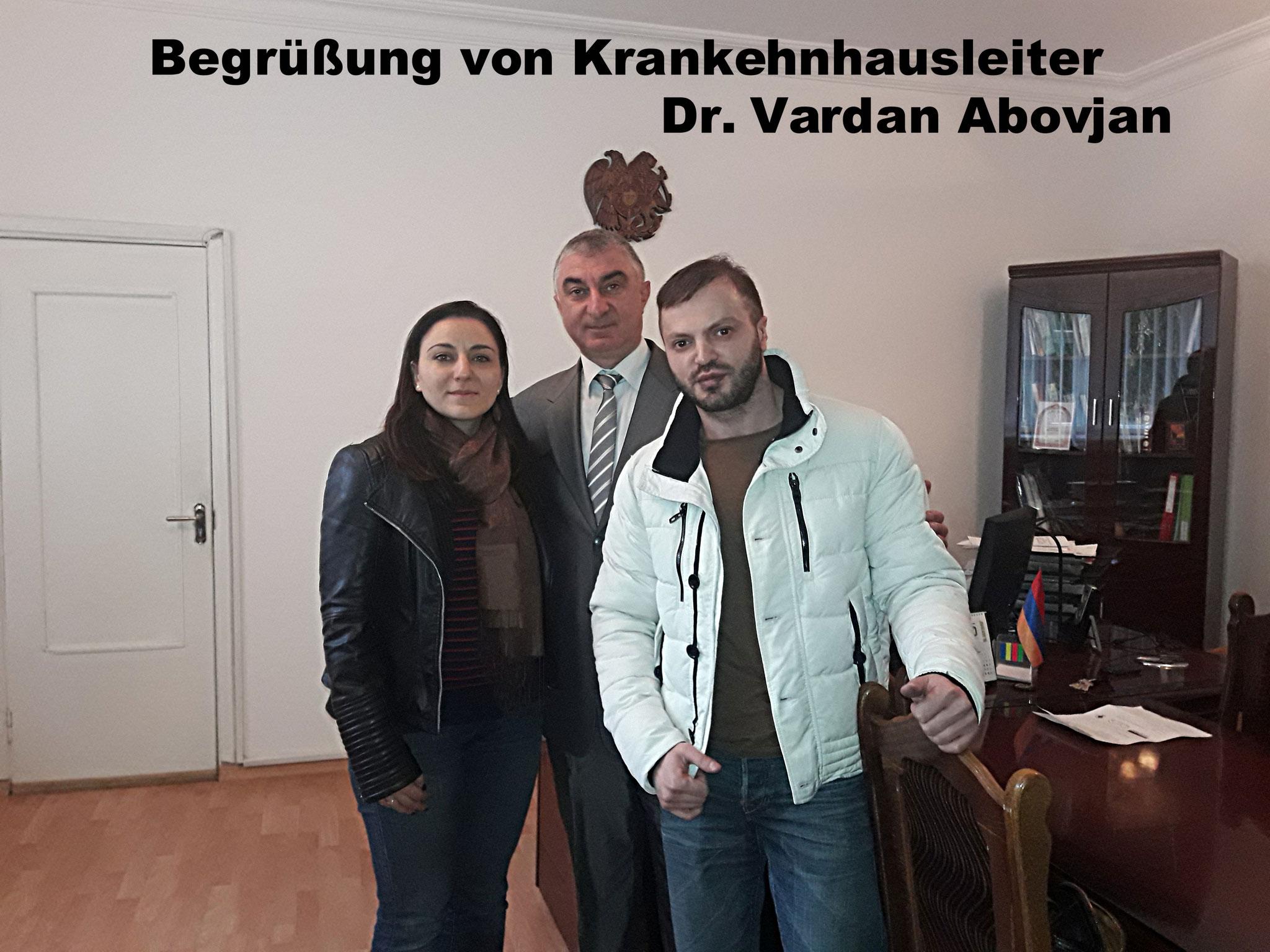 Krankenhausleiter Dr. Vardan Abovjan
