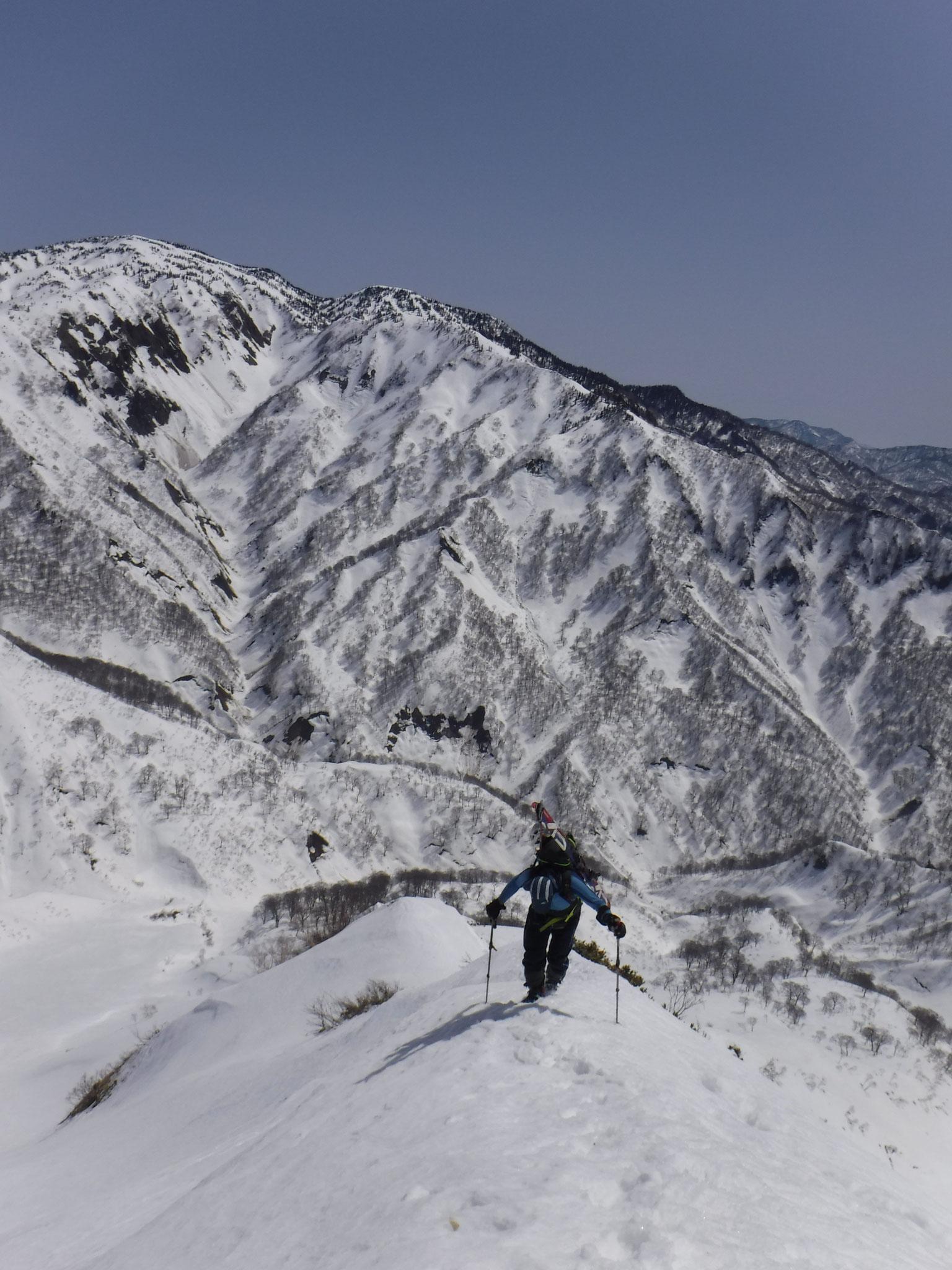 天狗原山、大倉沢を背に