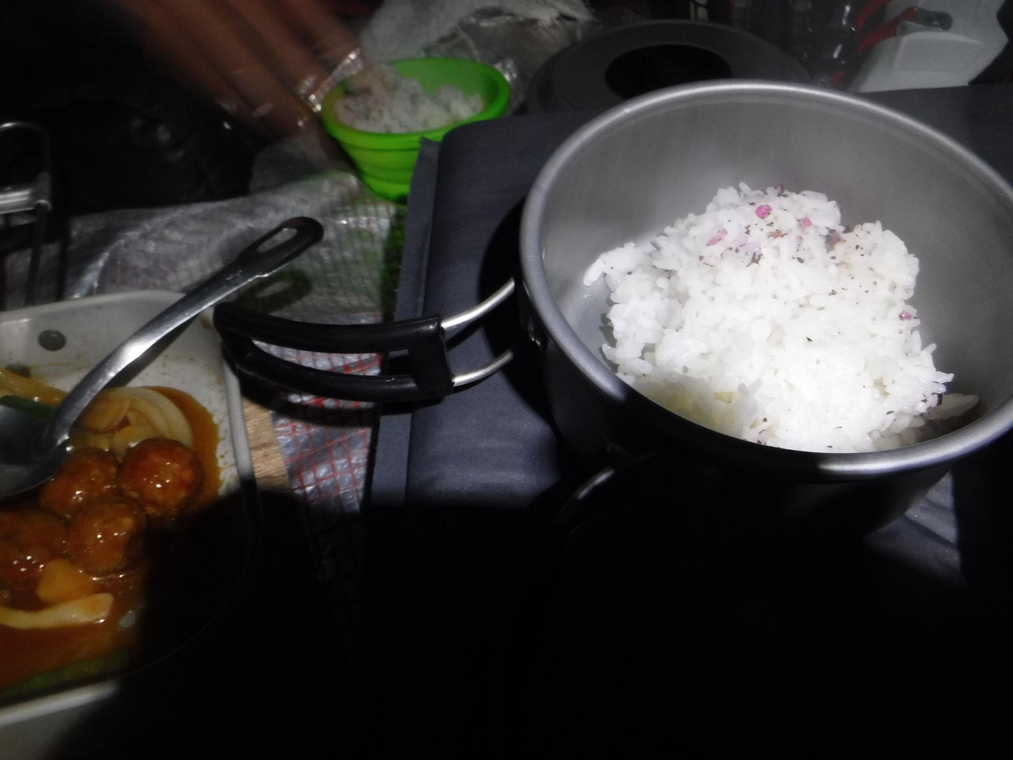 ご飯を炊く、ユカリご飯
