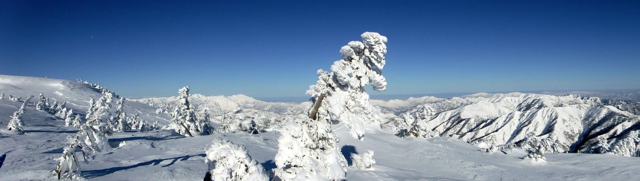 三岩岳山頂からのパノラマ
