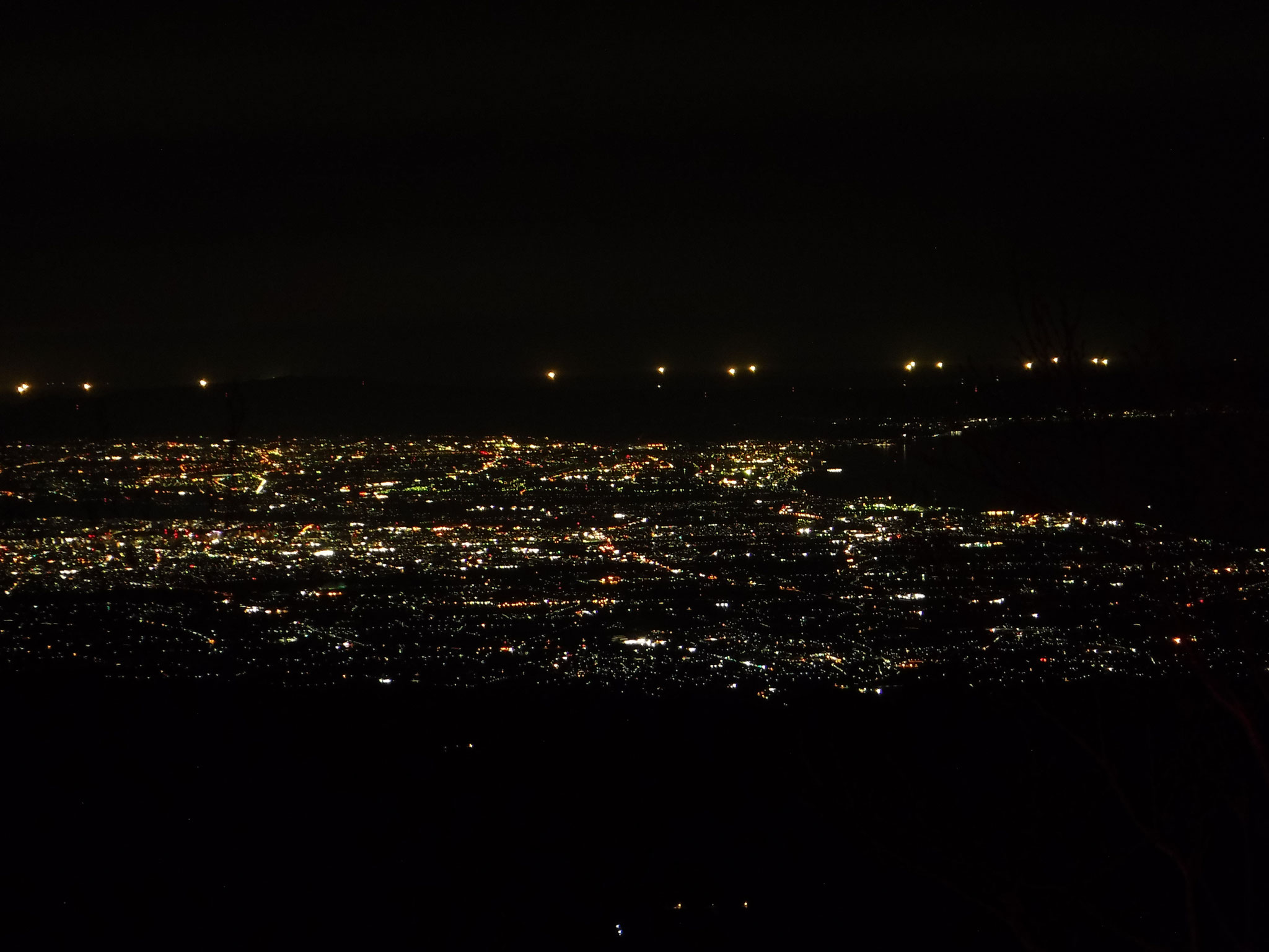 6/6 0時 富山平野の夜景