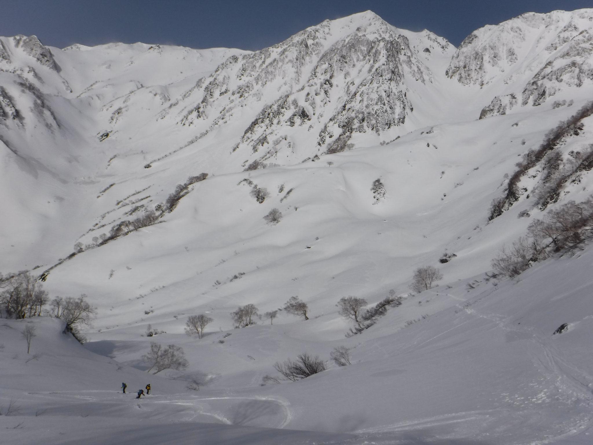 新雪に覆われた上部