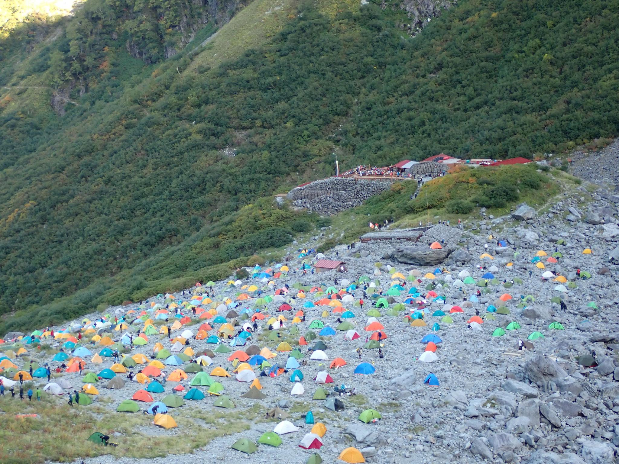 テント場もほぼ満杯