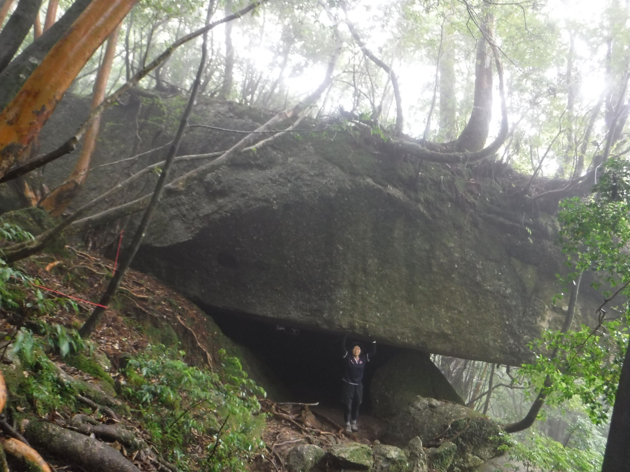 辻峠手前の巨岩