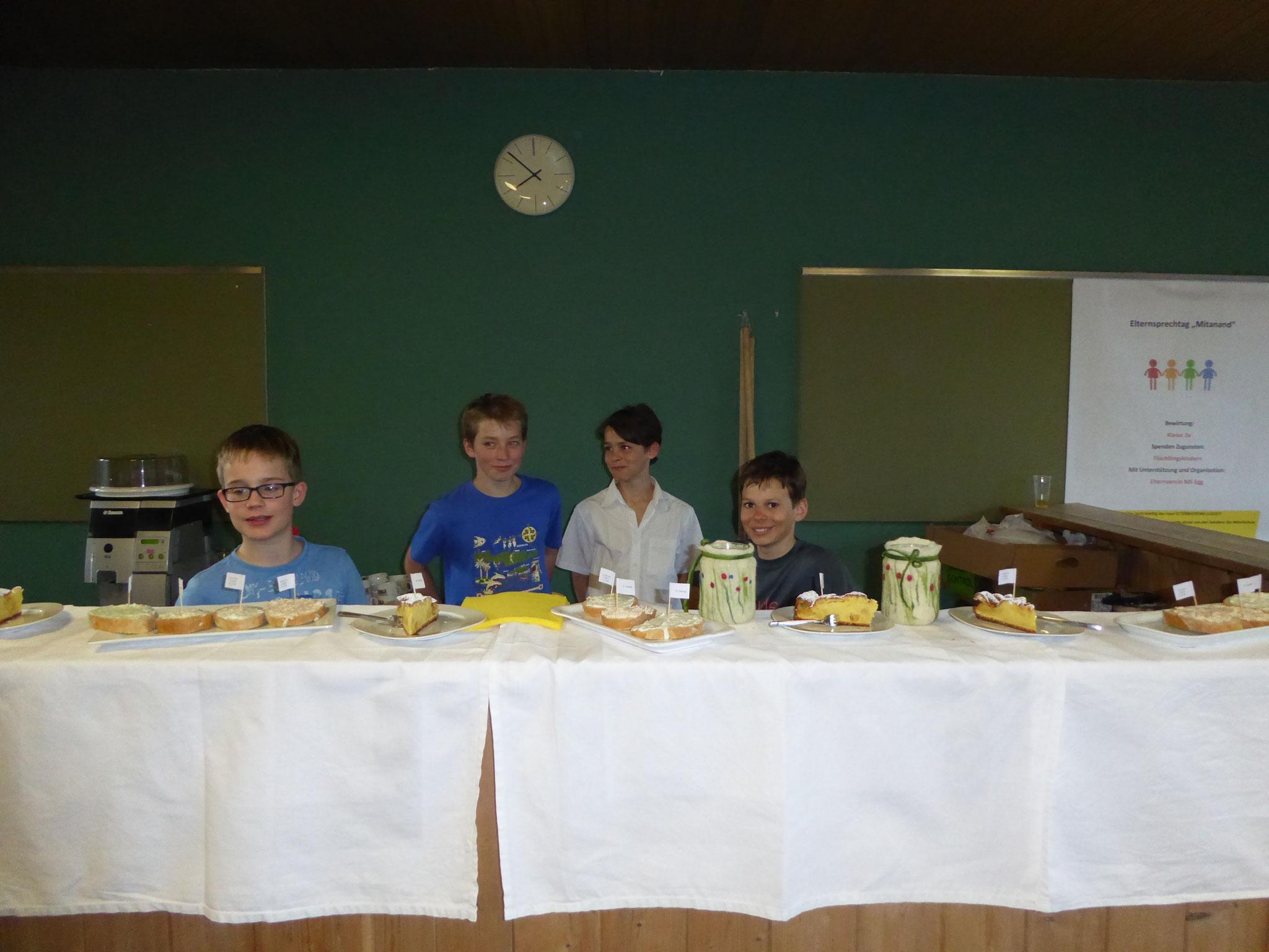 Bewirtung 3a-Klasse gemeinsam mit dem Elternverein