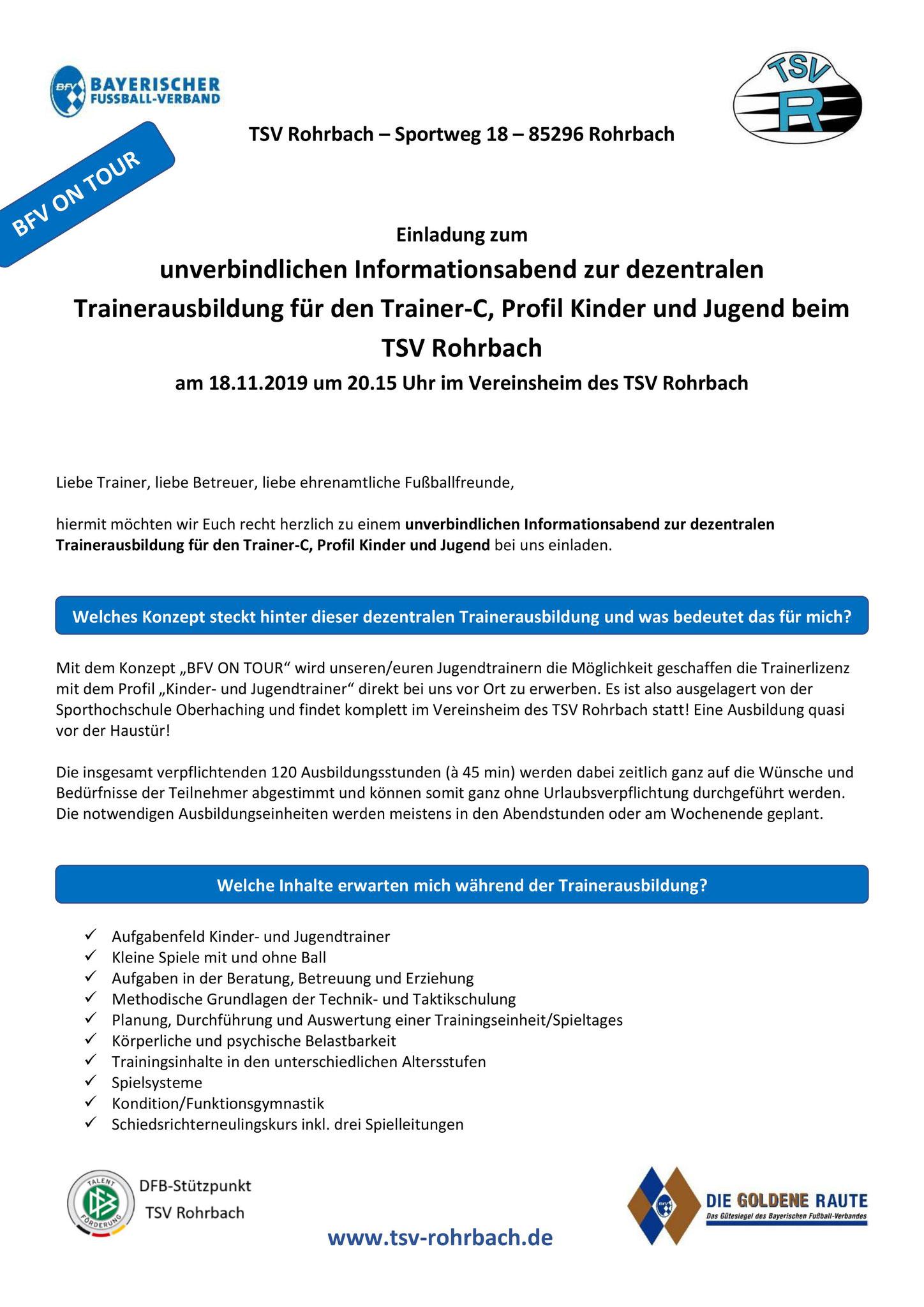 Blog Abteilungen Des Tsv Rohrbach Fussball Gymnastik
