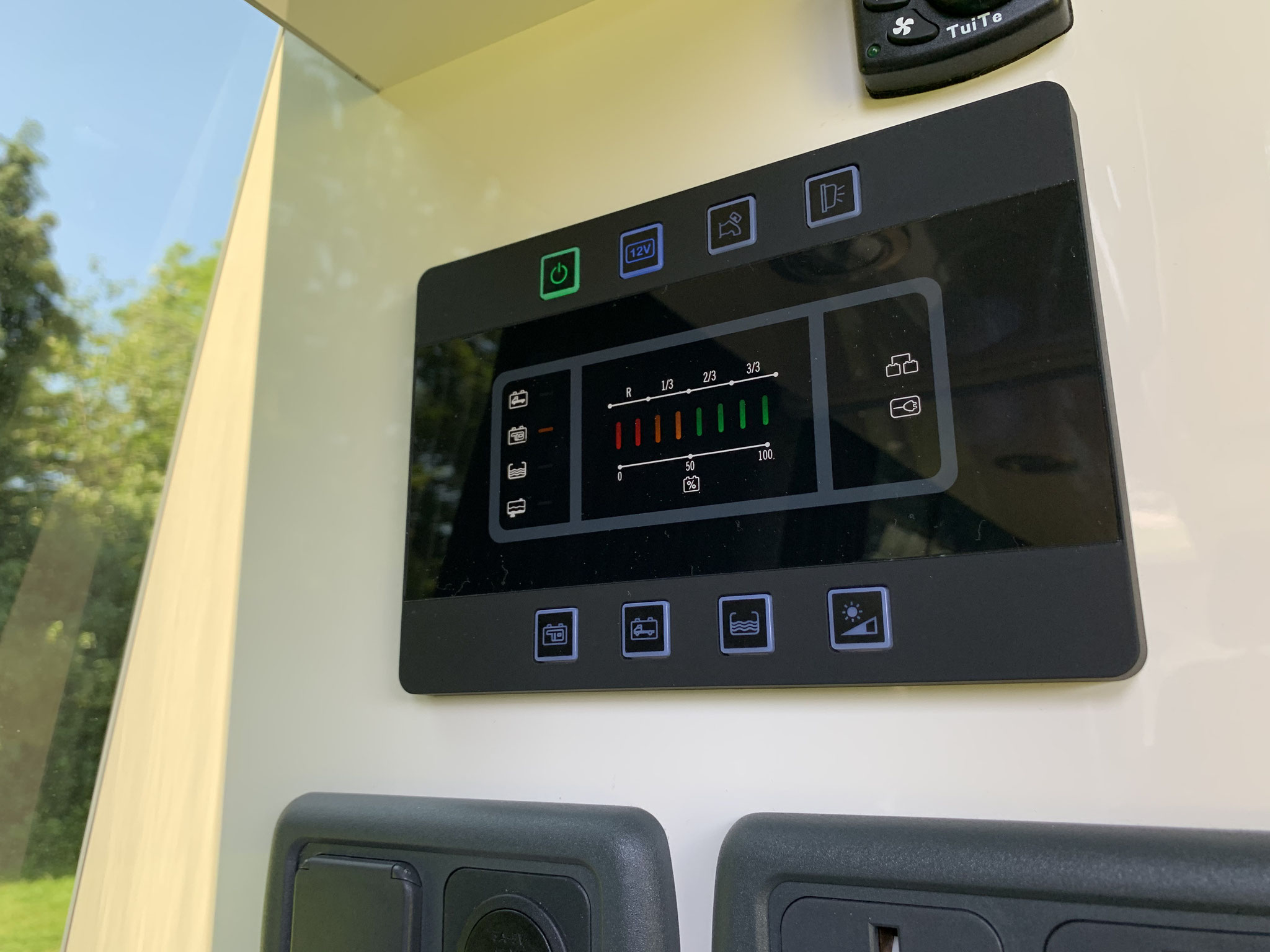 Night heater control, CBE control panel and multiple power outlets