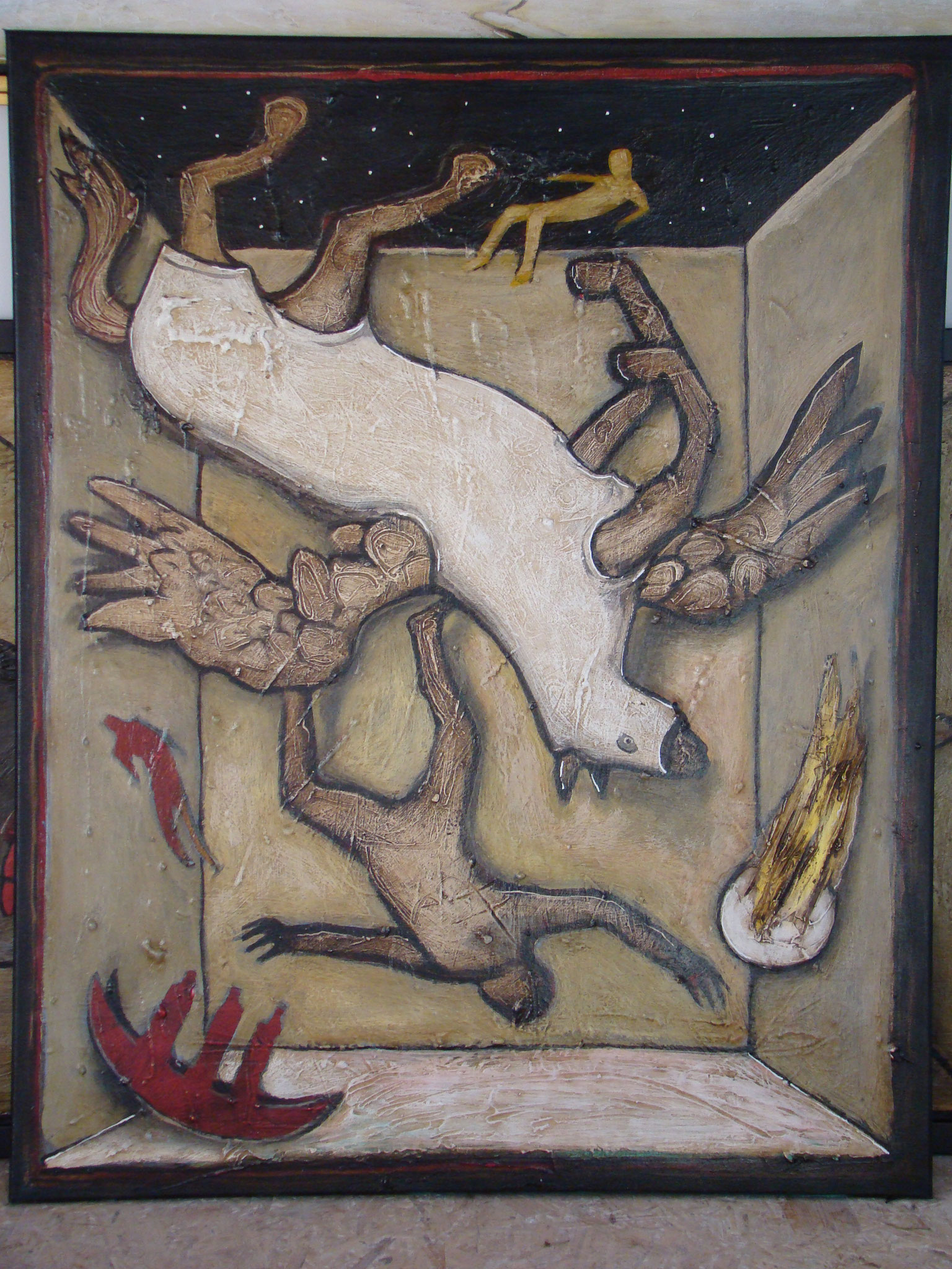 Sturz des Pegasus, 100 x 70 cm, 2016