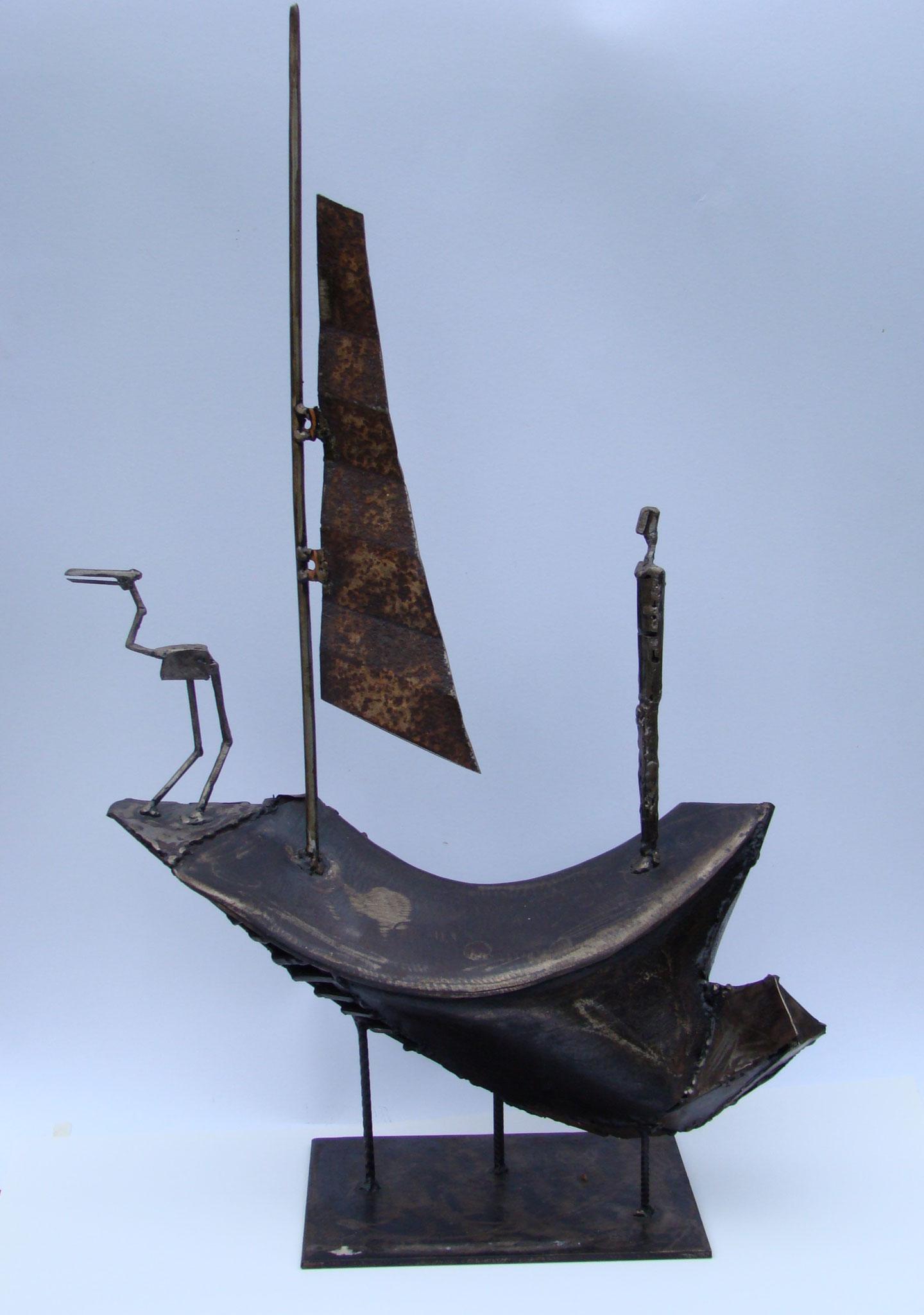 Charon, Stahl, 2007, 70 x 45 cm