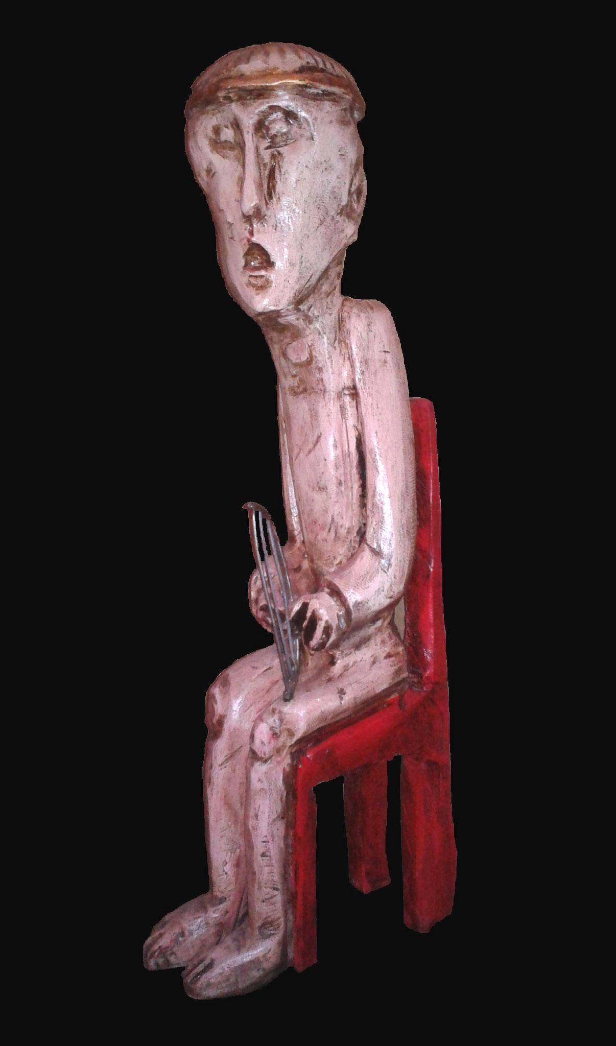 Orpheus, Eiche, 2012, 75 x 30 x 20 cm