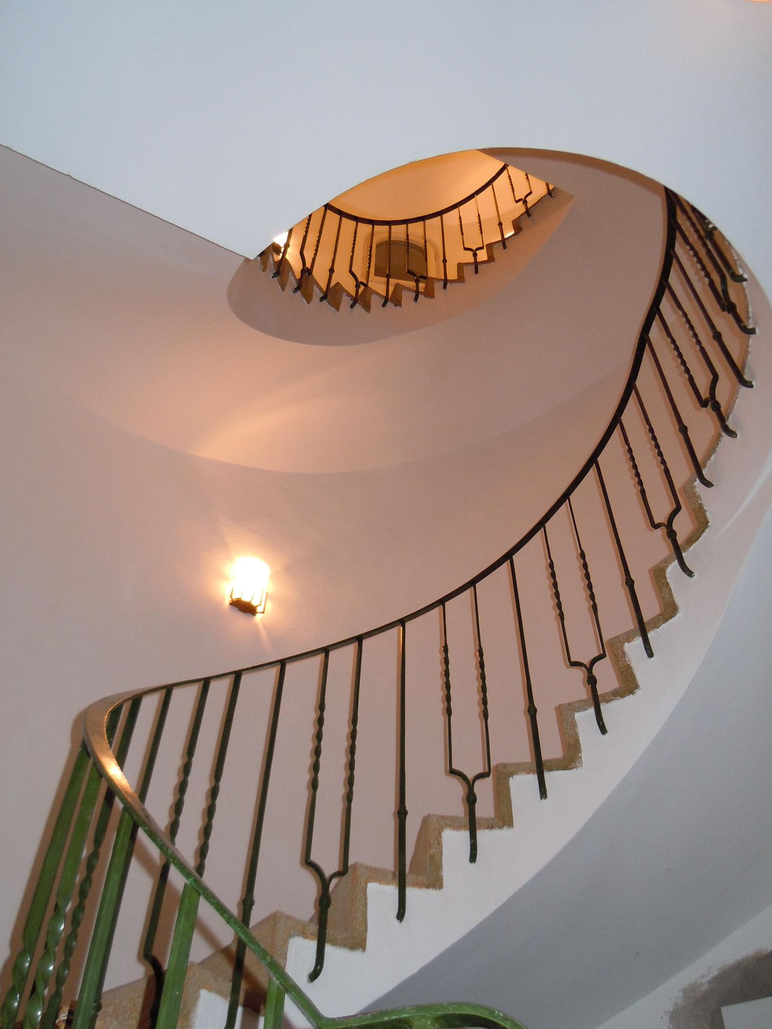 The tower interior stairway