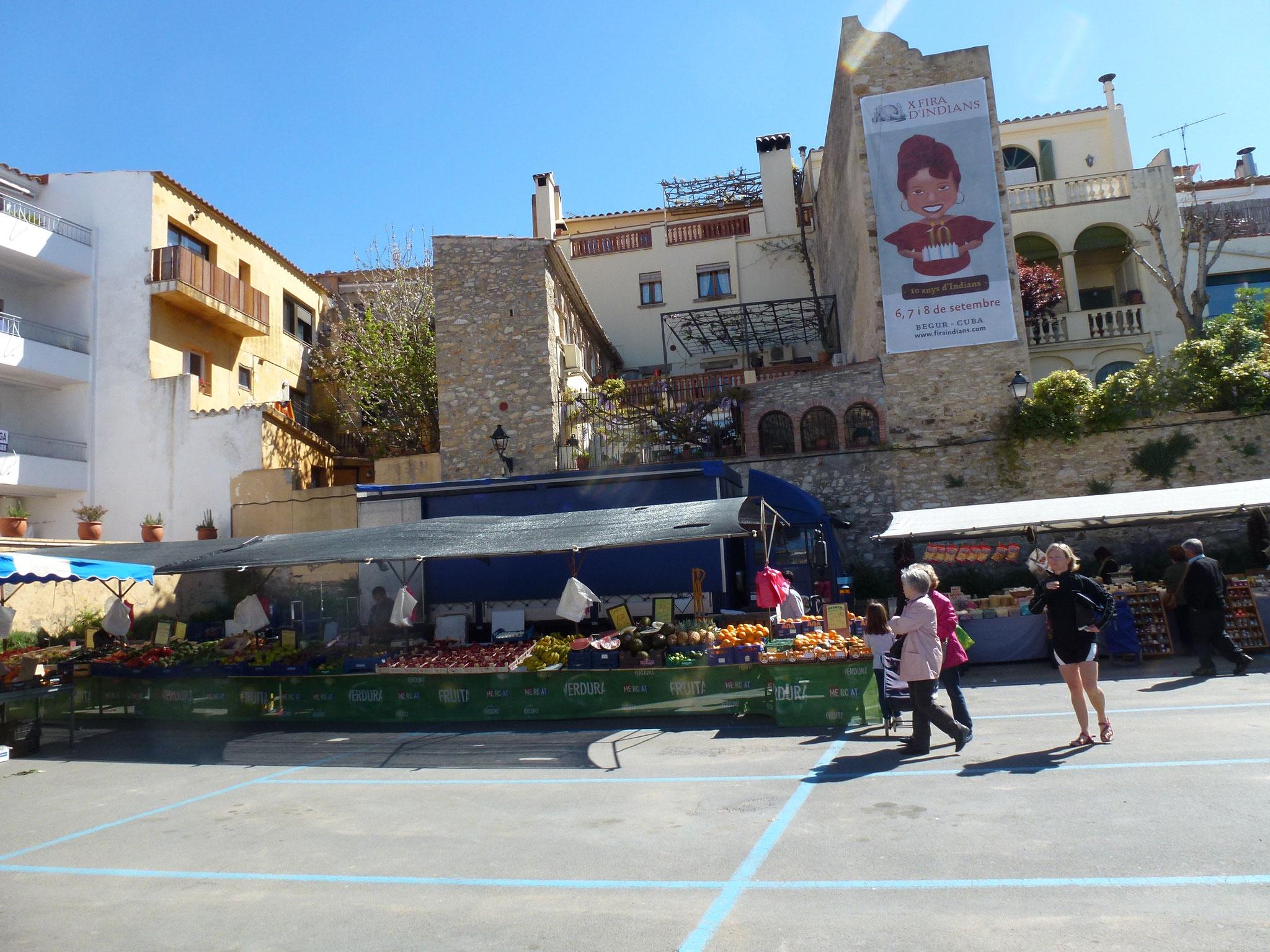 Begur market day (Wednesday morning)