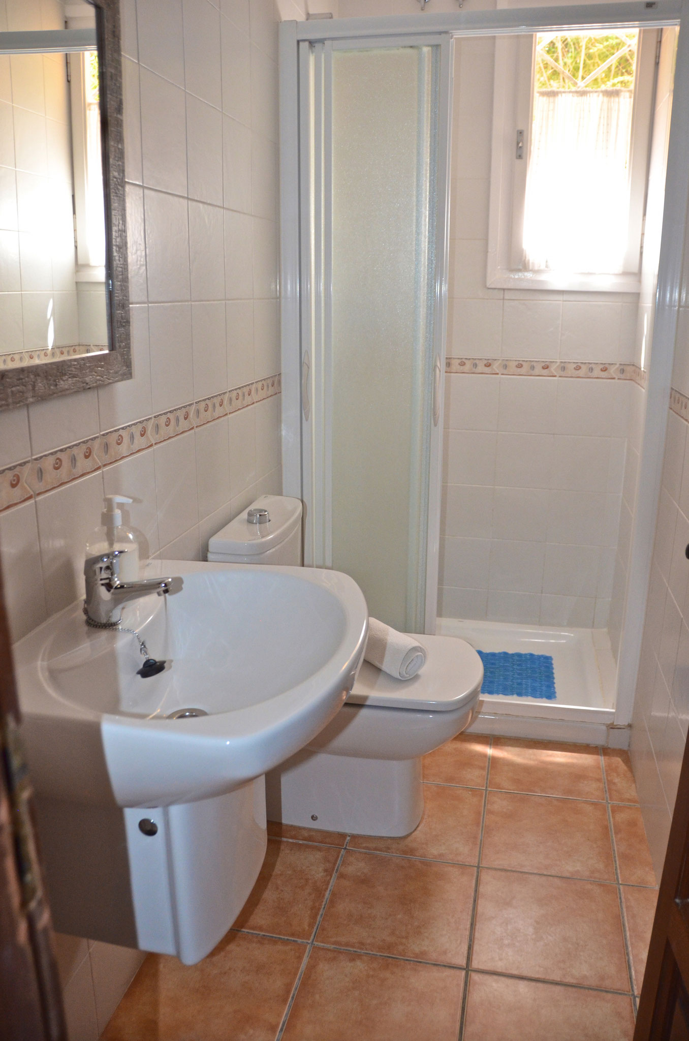 Shower room convenient to bedrooms 2 & 3