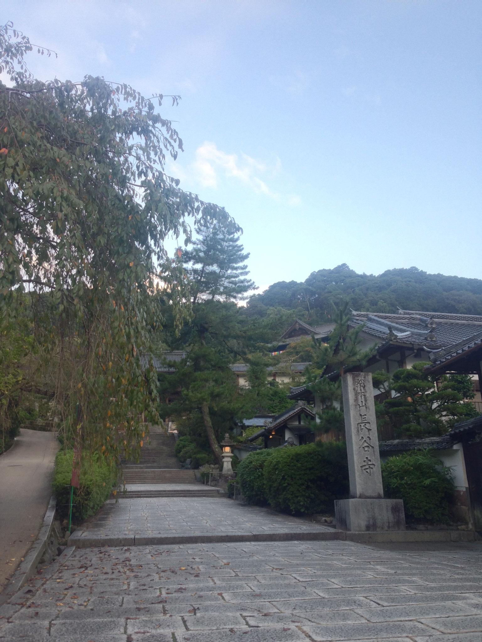 「いったん」から長谷寺門前まで徒歩約15分。早朝のショートウォーキング、とても気持がよいです!