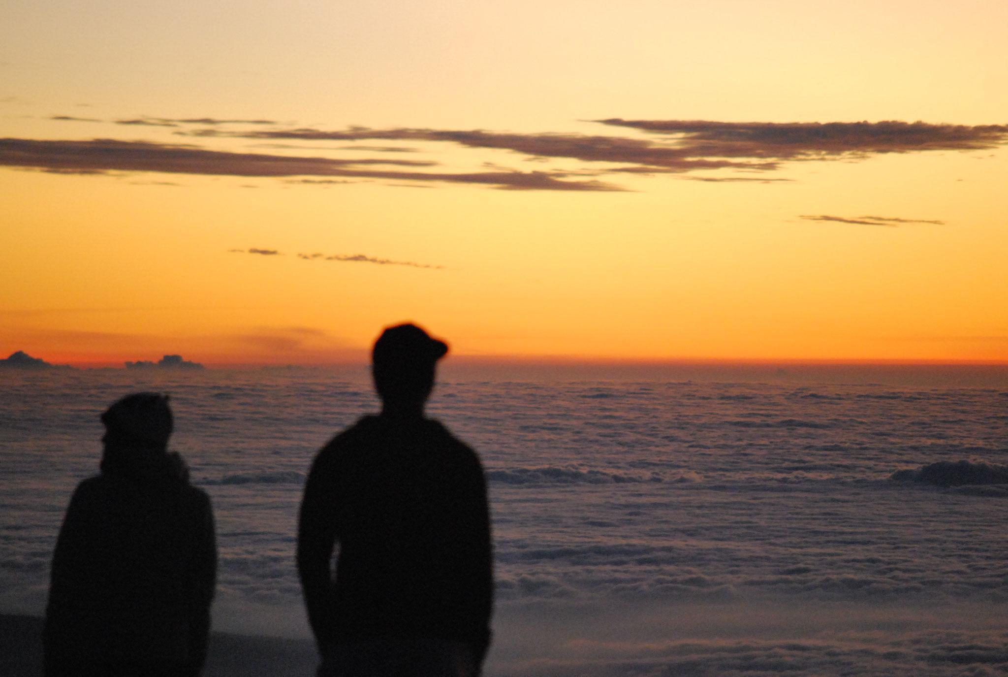 ハワイ島4200mからの夕焼け