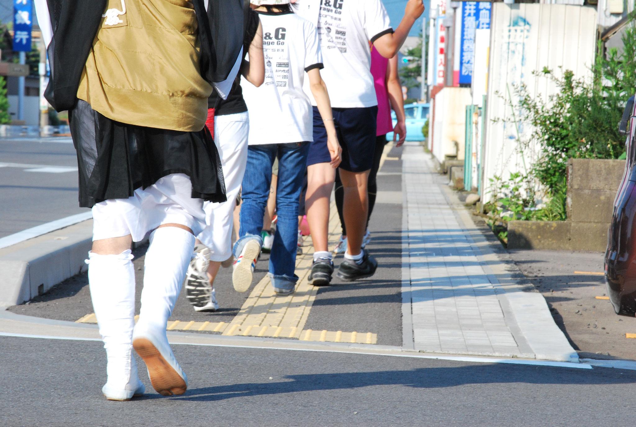 新潟から福井県までの平和行脚