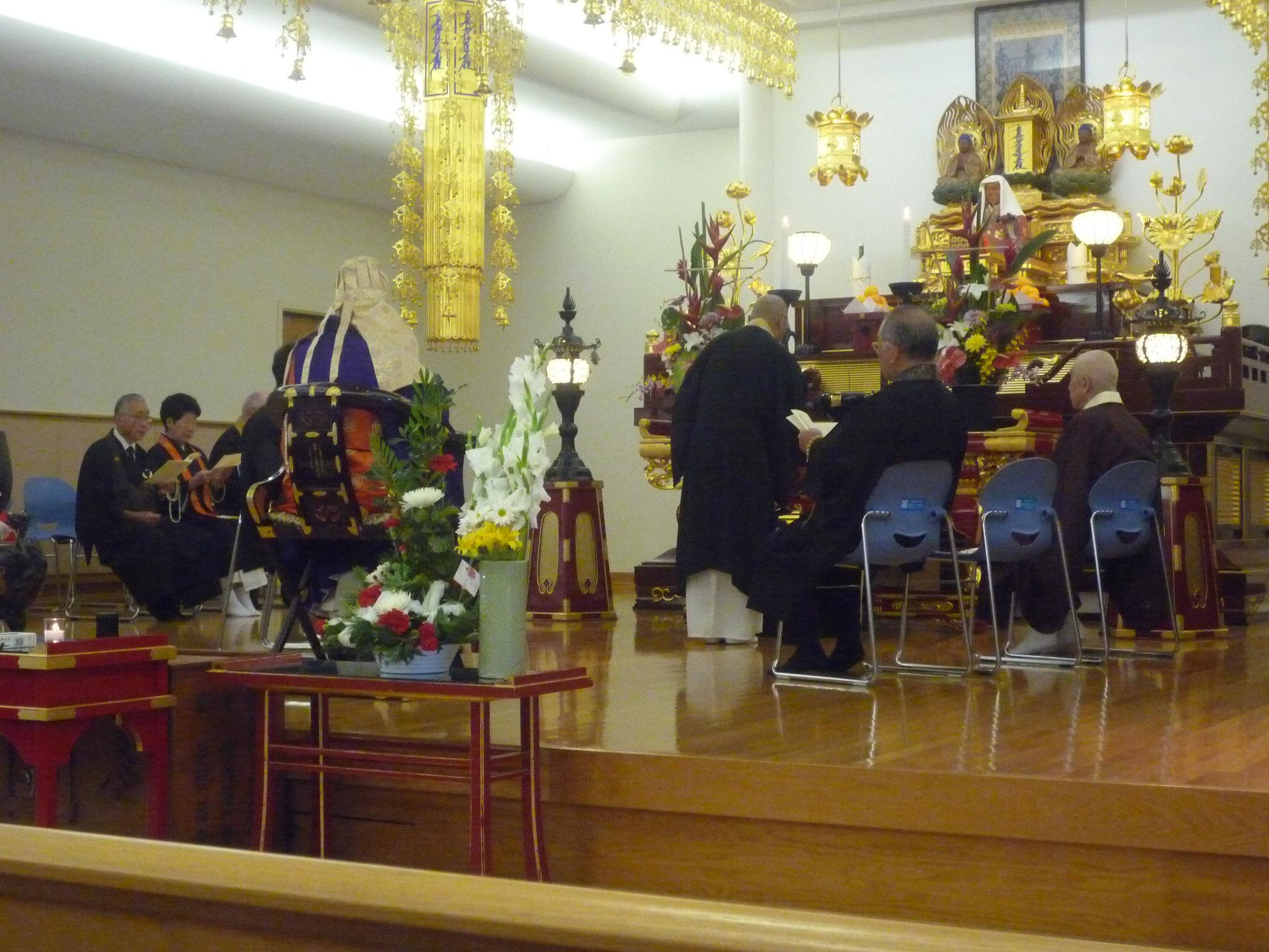 ハワイ仏教連合会主催の花まつり 法要
