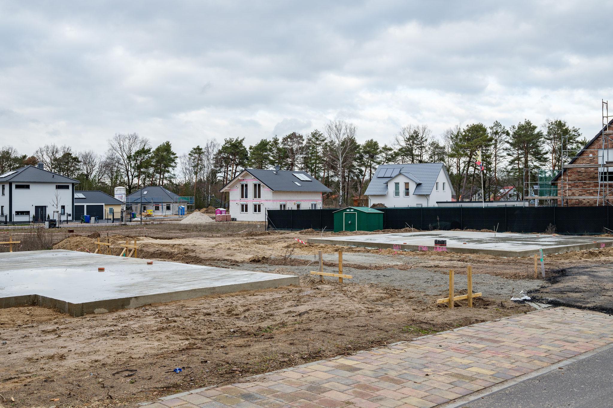 Housing development building site, 2020
