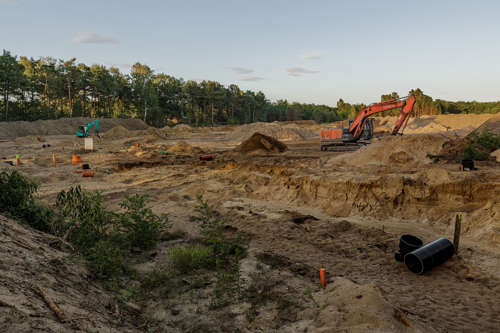 Housing development building site, 2018