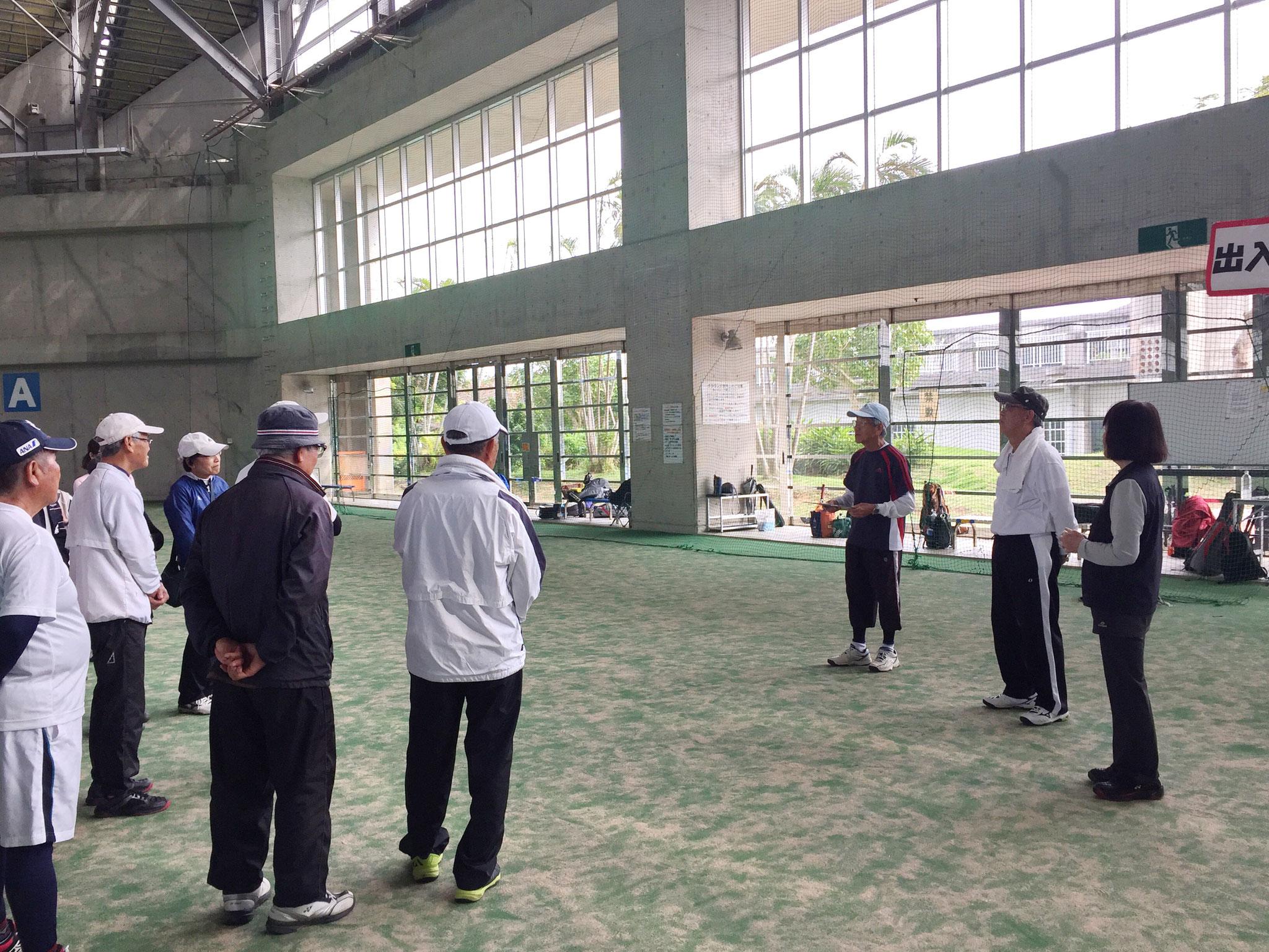 第47回沖縄県シニアテニス連盟親睦オープンテニス大会の風景