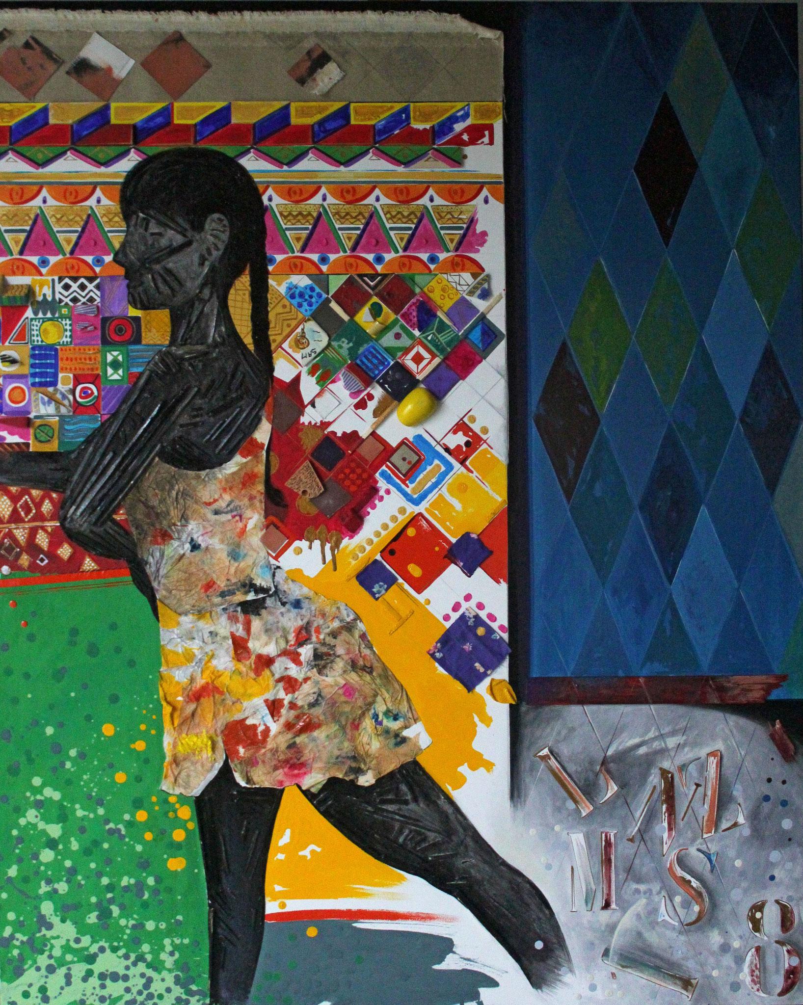 Libertà di sognare - misto su tela, cm. 80x100