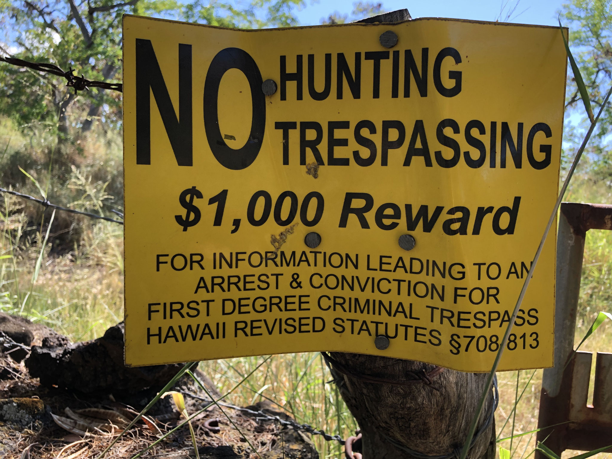 "This is going a step further than just putting a sign up saying ""no trespassing"""