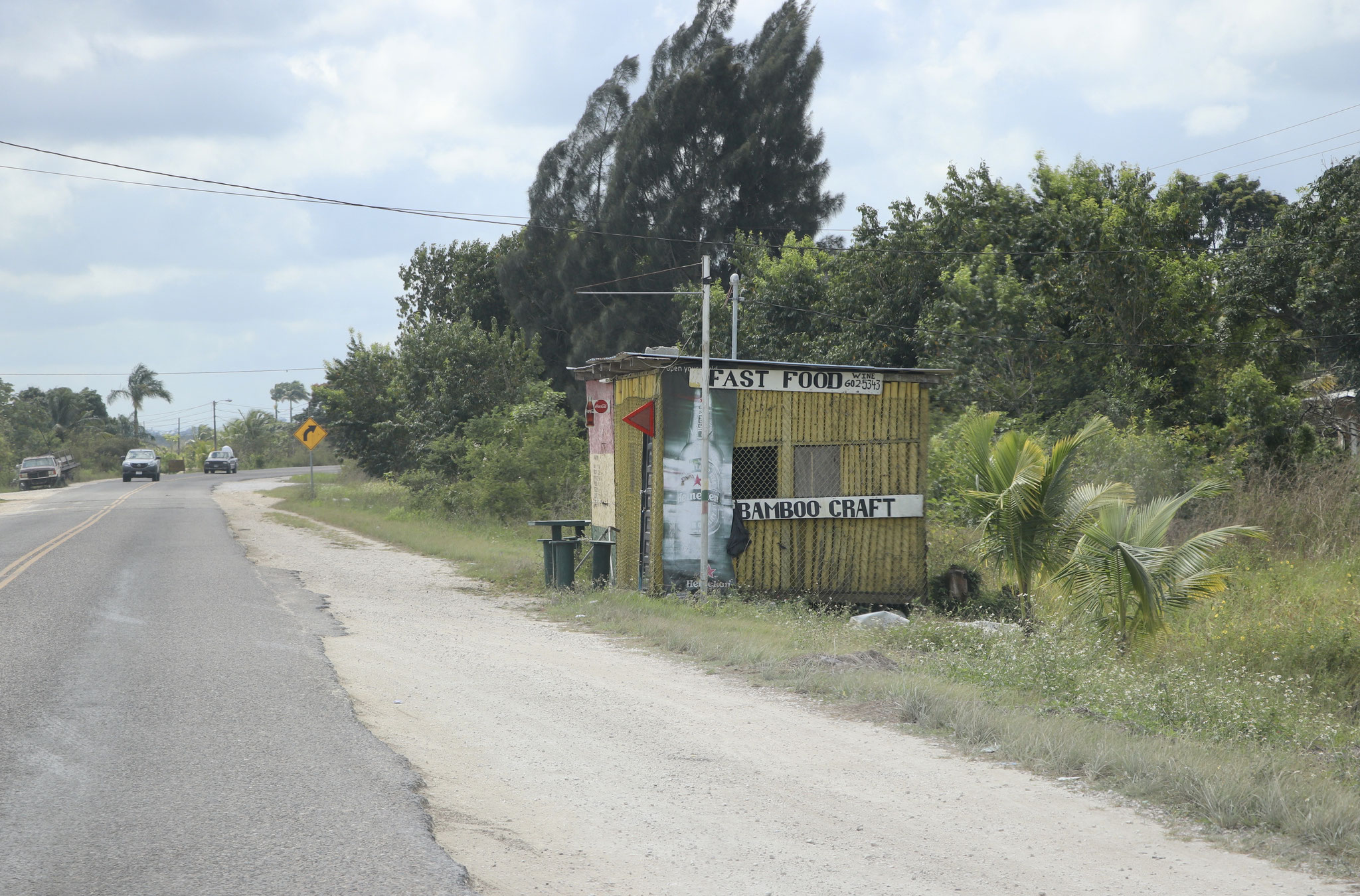 ..as always in central America you can buy your food right off the roadside