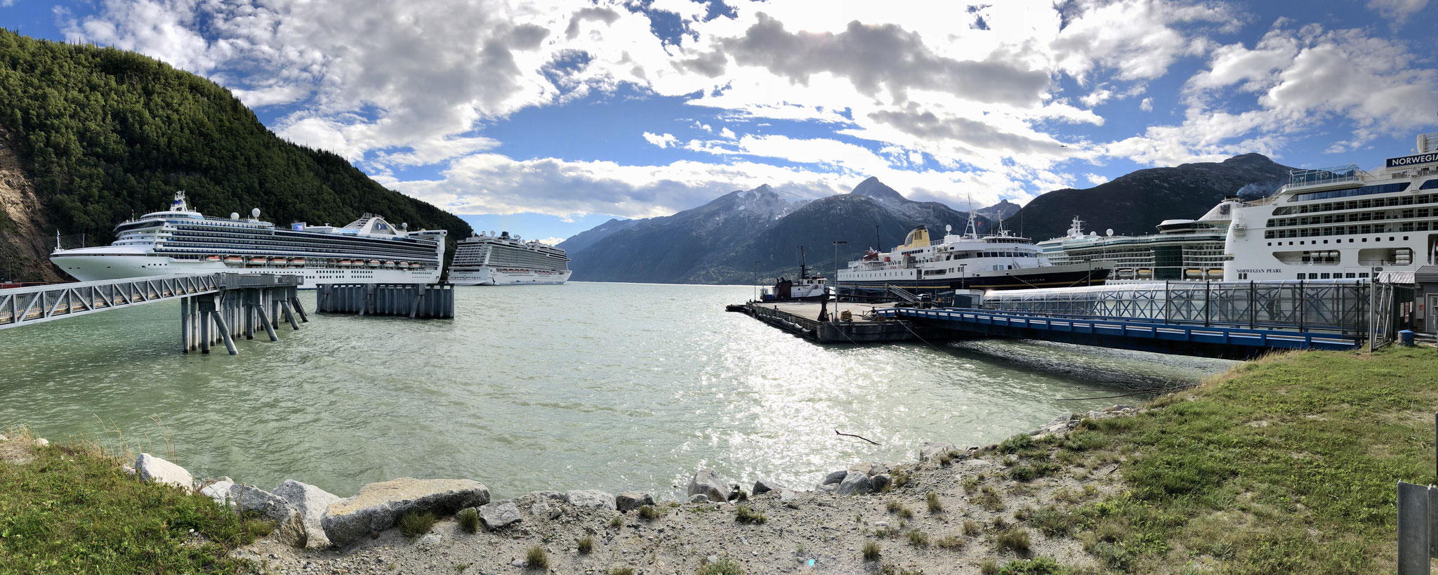 Our Ferry in Skagway Harbour
