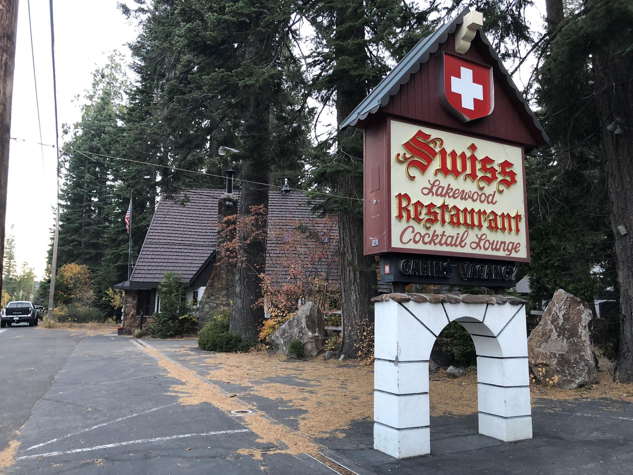 Swiss Restaurant at Tahoe Lake