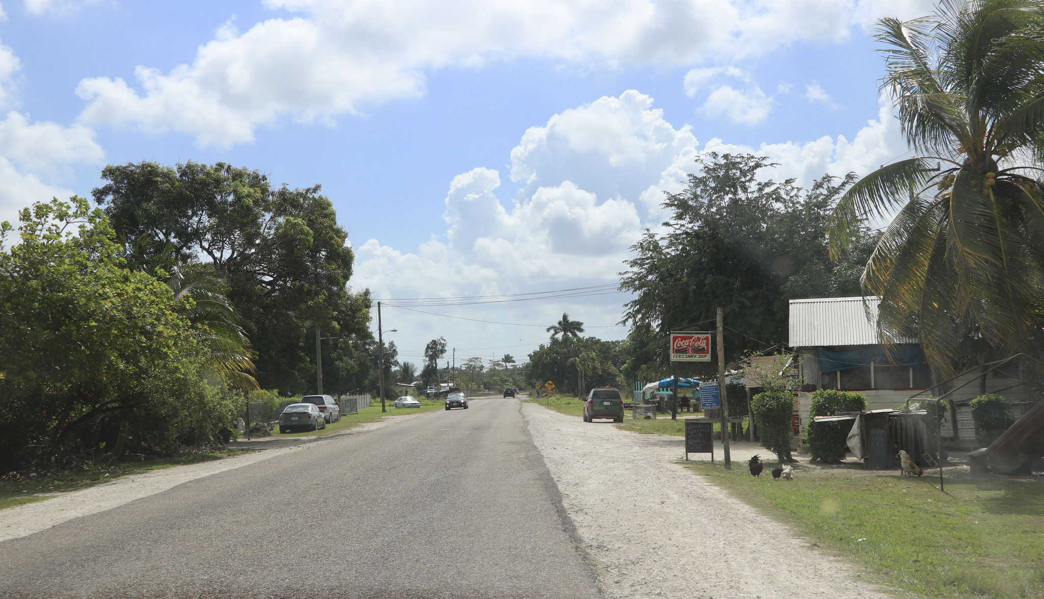 The roads in Belize were fairly good...