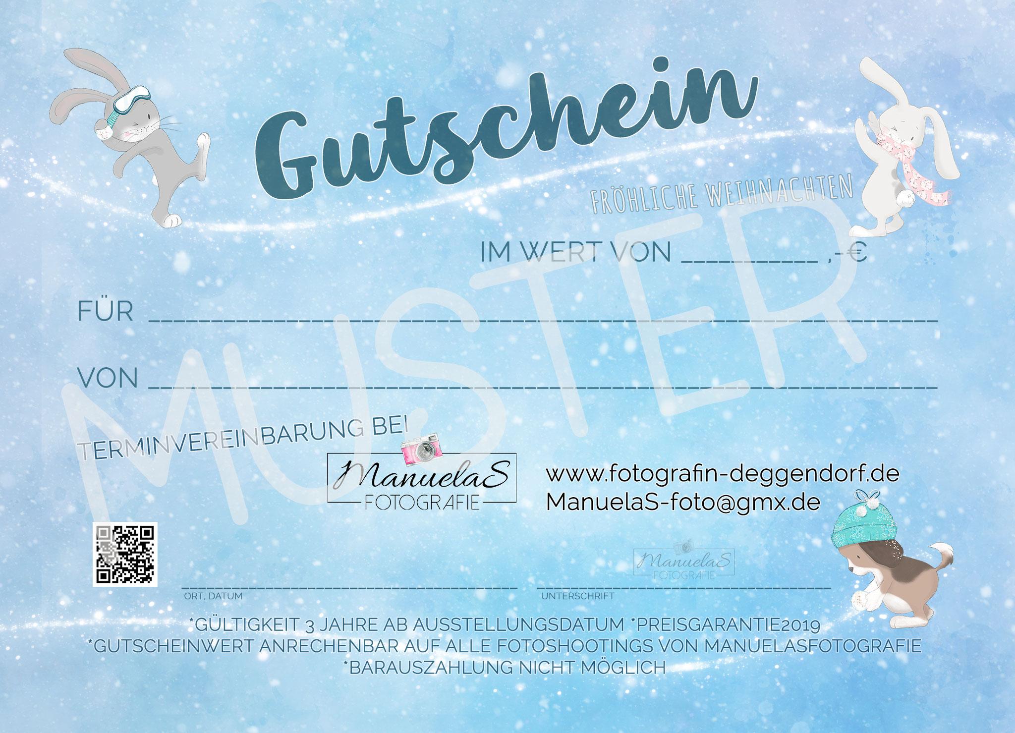 Gutschein Snowball - ManuelaSfotografie MUSTER www.fotografin-deggendorf.de