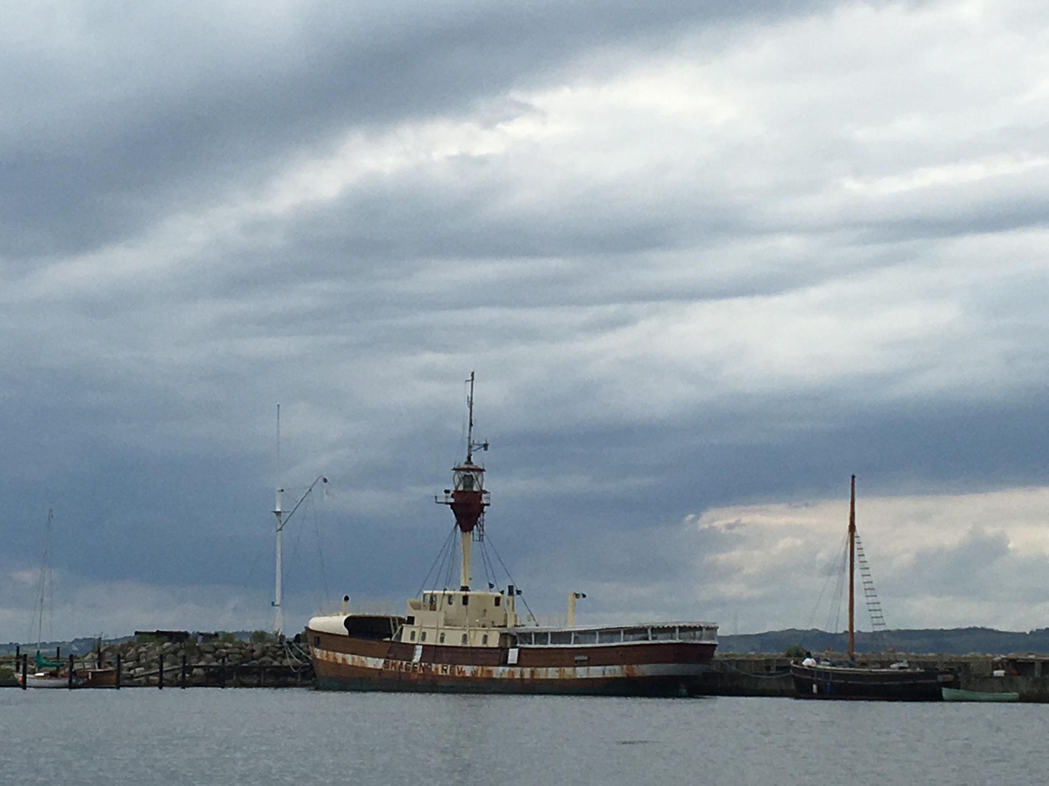 Feuerschiff Skagen Rev im Handelshafen von Ebeltoft