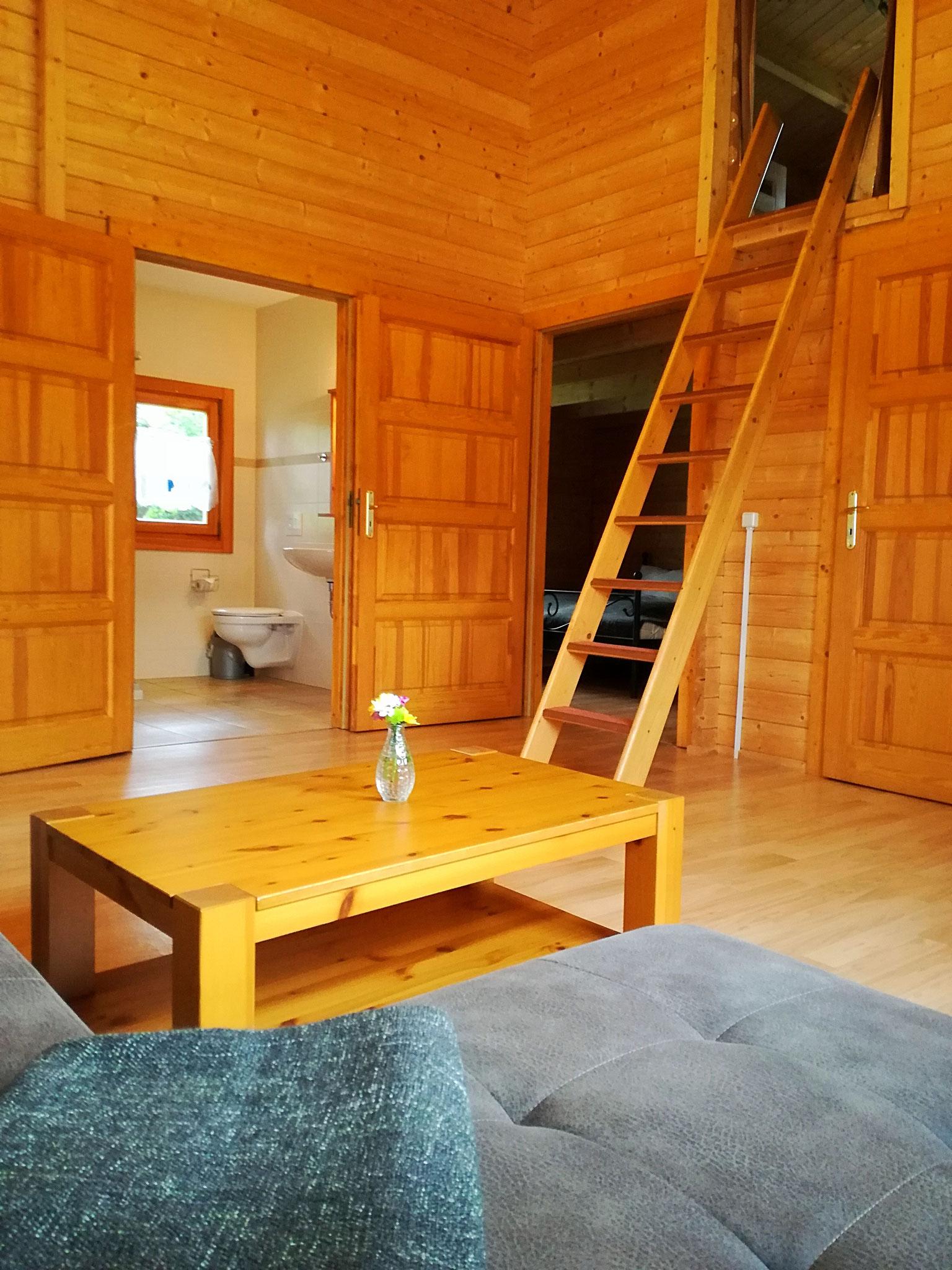Bespiel Wohnbereich große Hütte