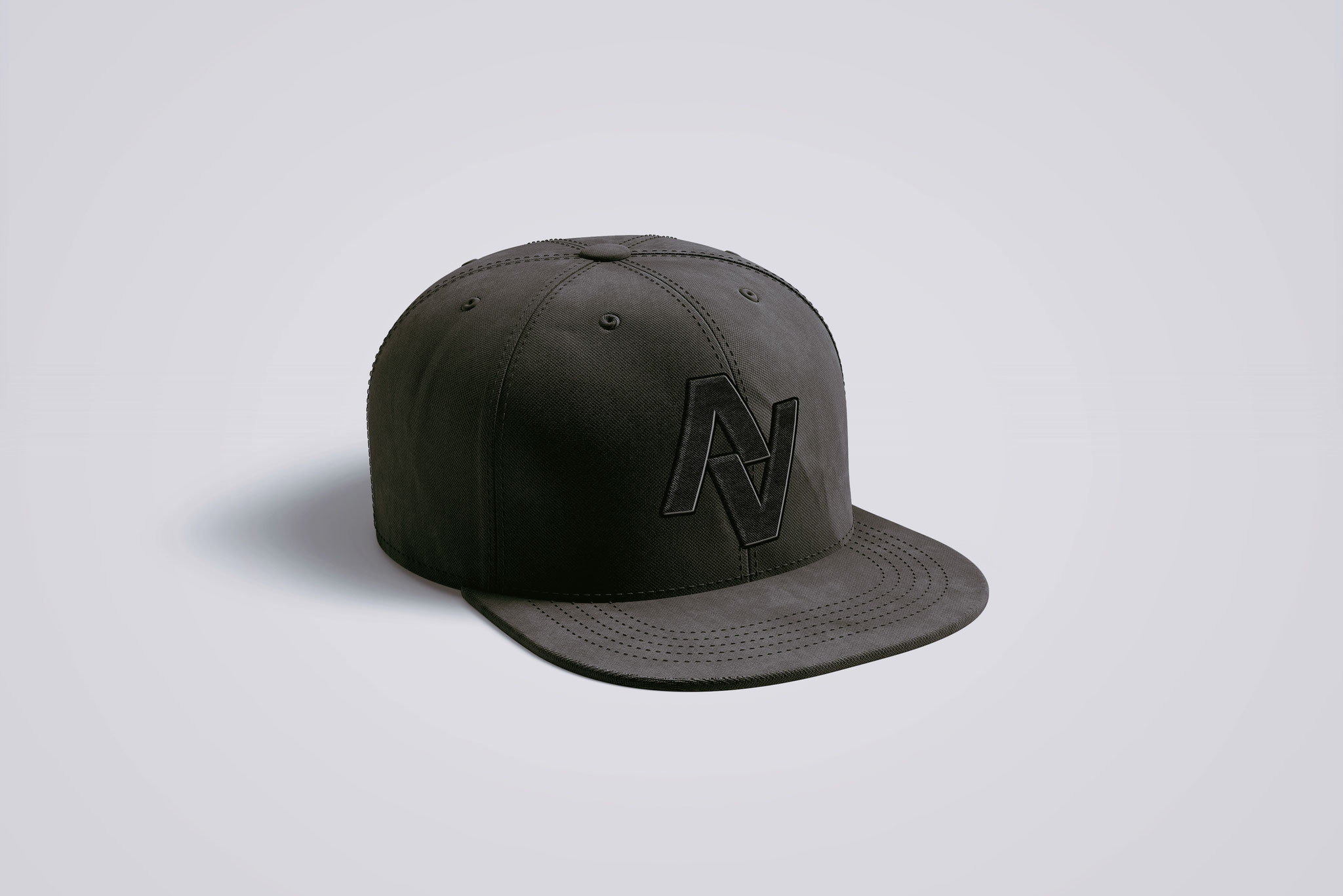 CAP BLACK | AVERSION-LOGO