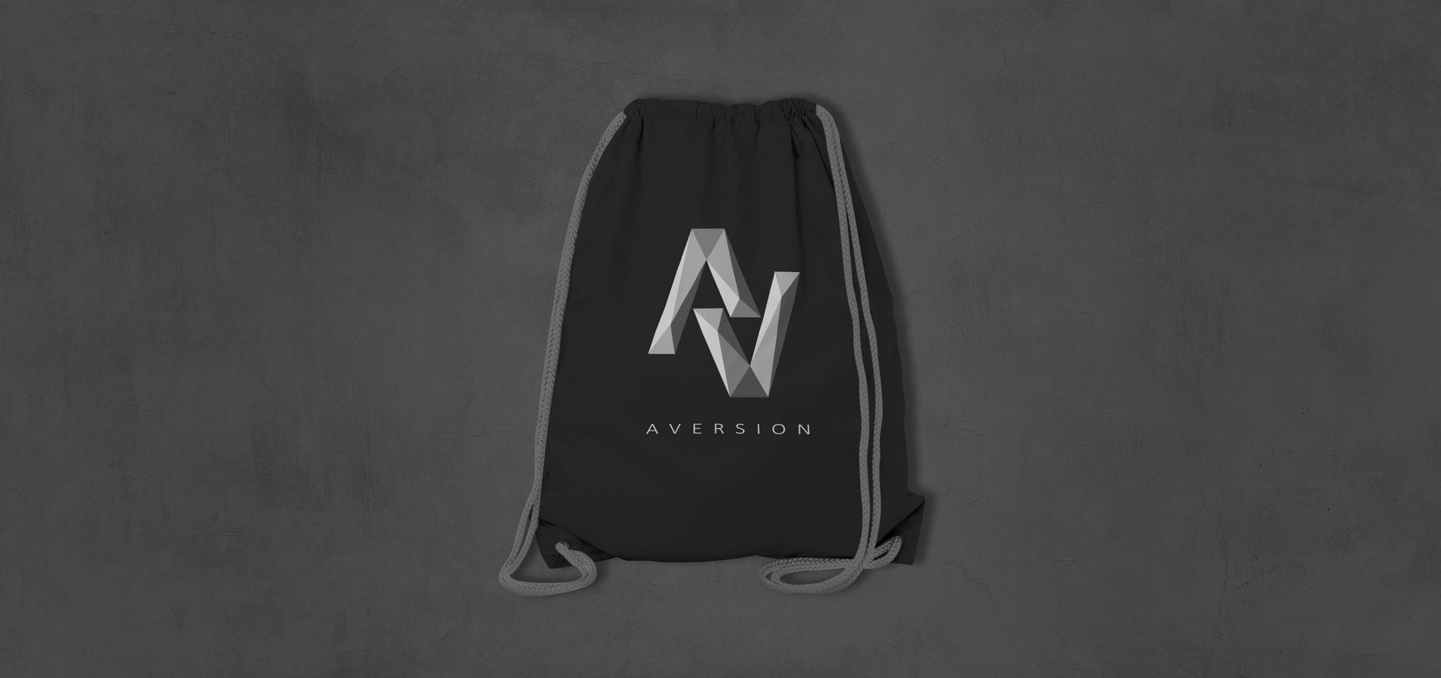 BEUTEL BLACK | AVERSION-LOGO