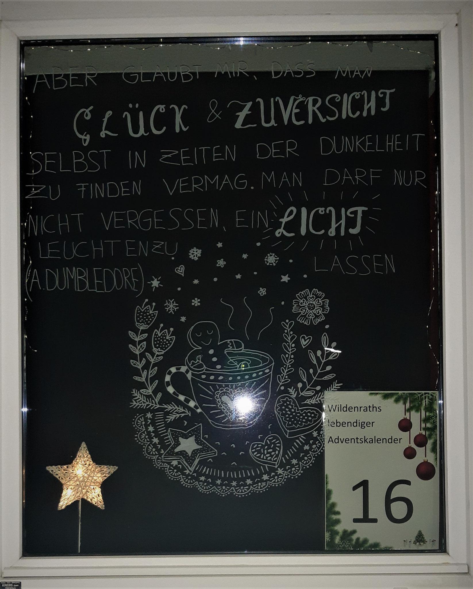 Adventsfenster Nr. 16