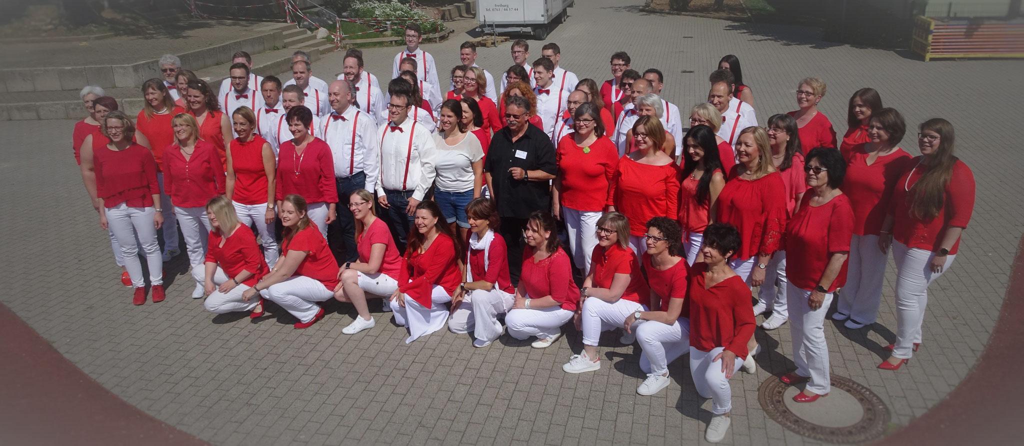 Gruppenfoto vor dem Wertungssingen (c) Eigene Bilder